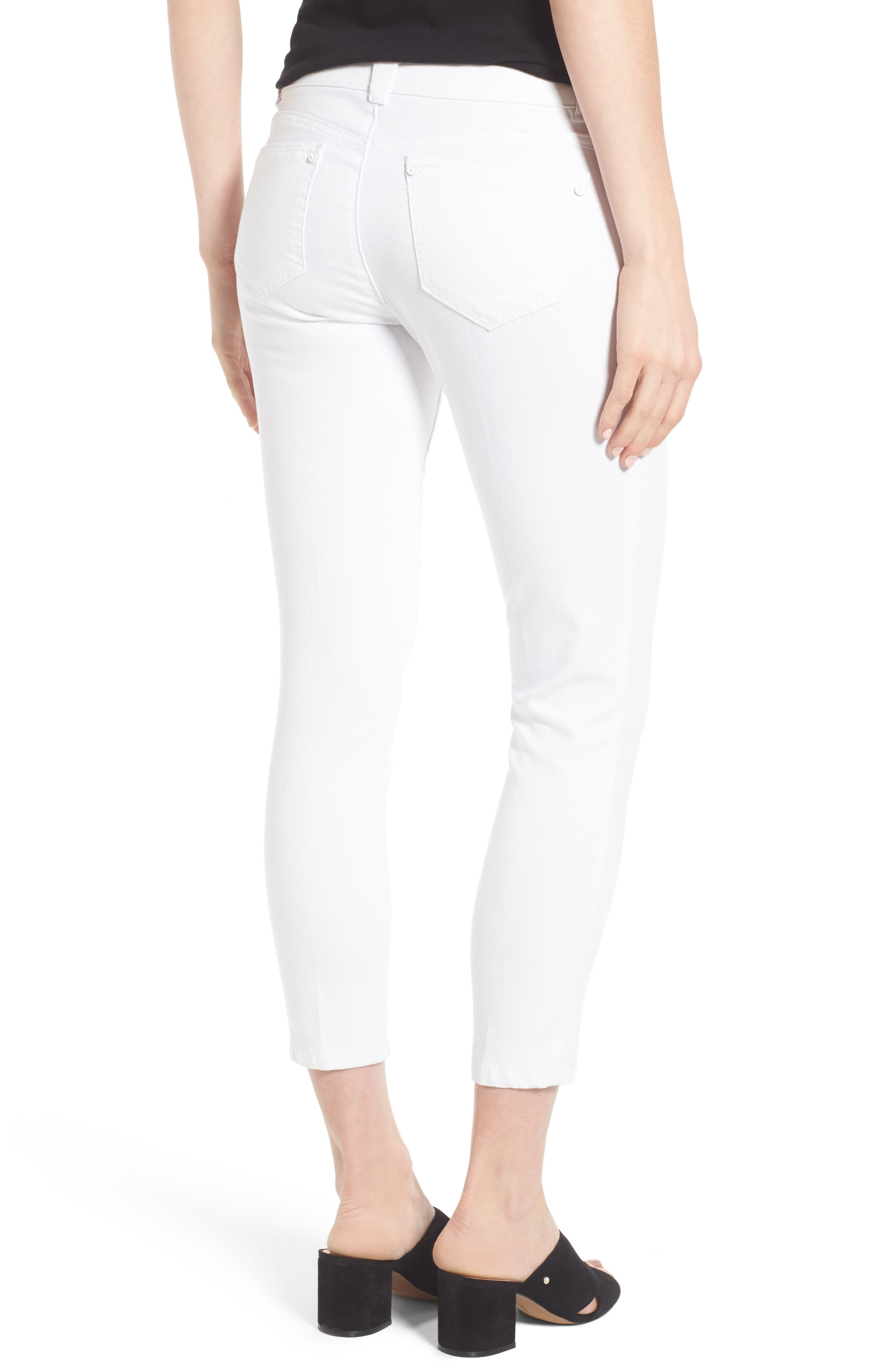 Ab-solution Skinny Crop Jeans,                             Alternate thumbnail 2, color,                             101