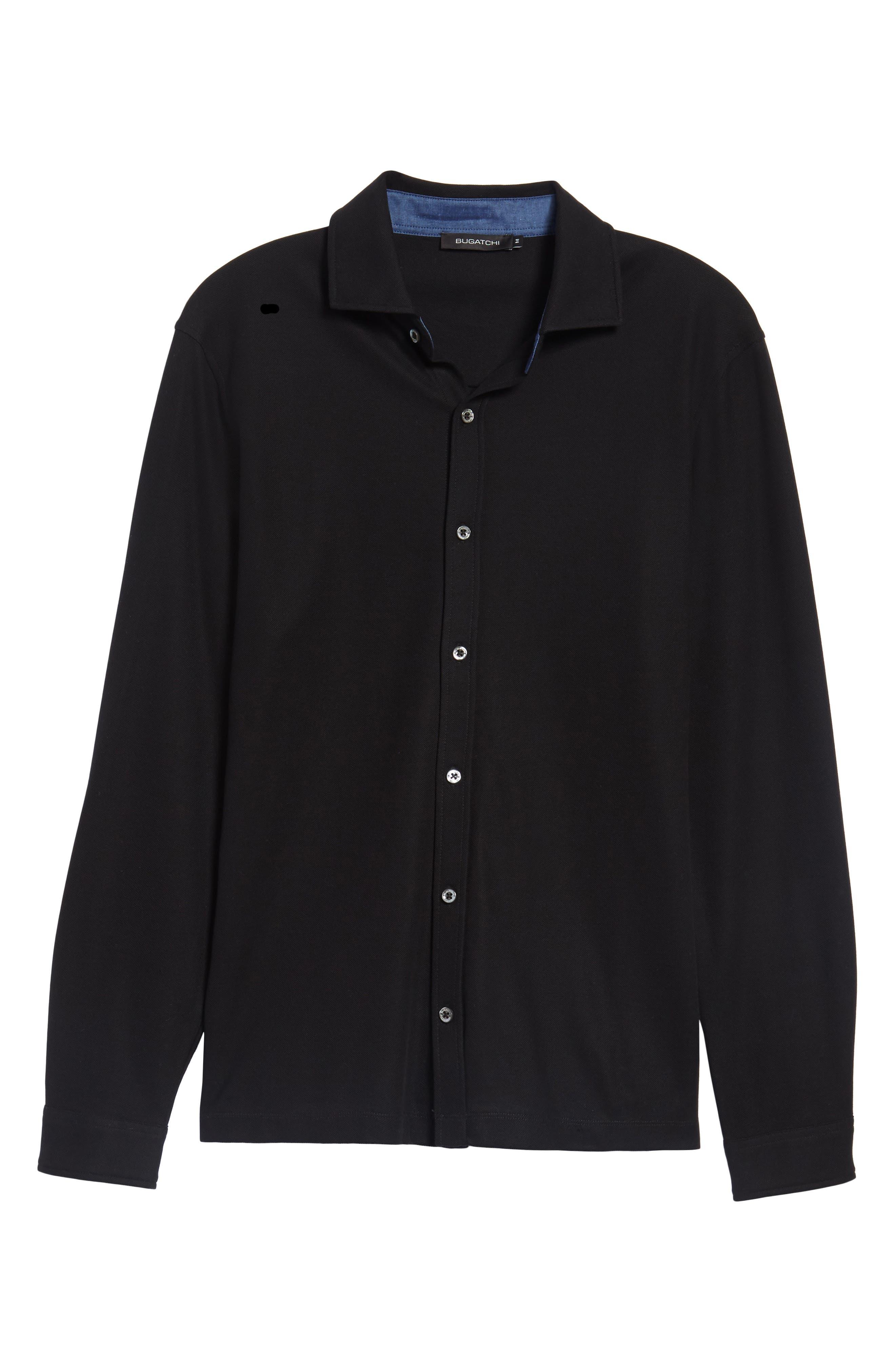Classic Fit Piqué Knit Shirt,                             Alternate thumbnail 6, color,                             001