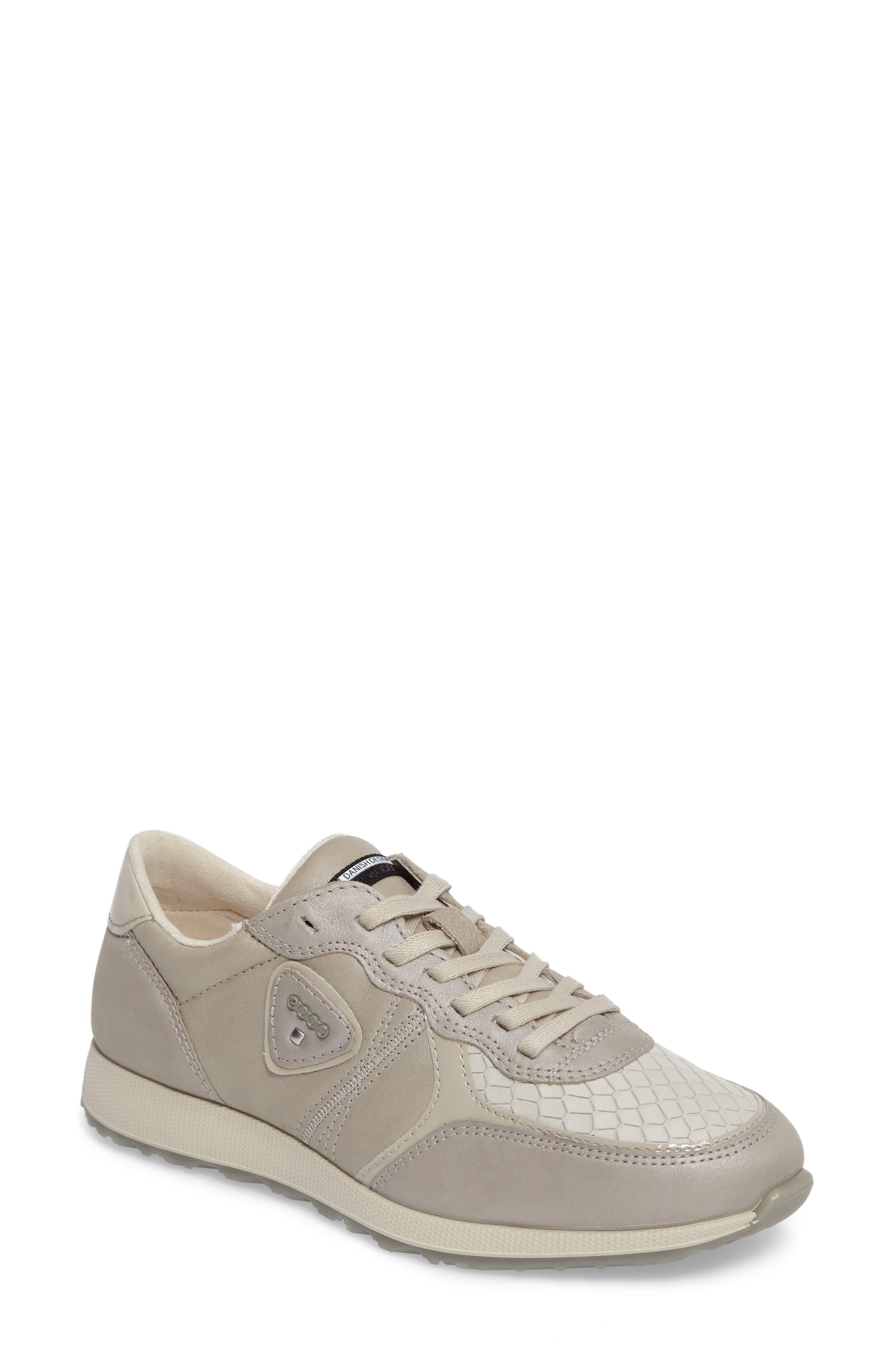 Retro Sneaker,                         Main,                         color, GRAVEL/ WHITE LEATHER