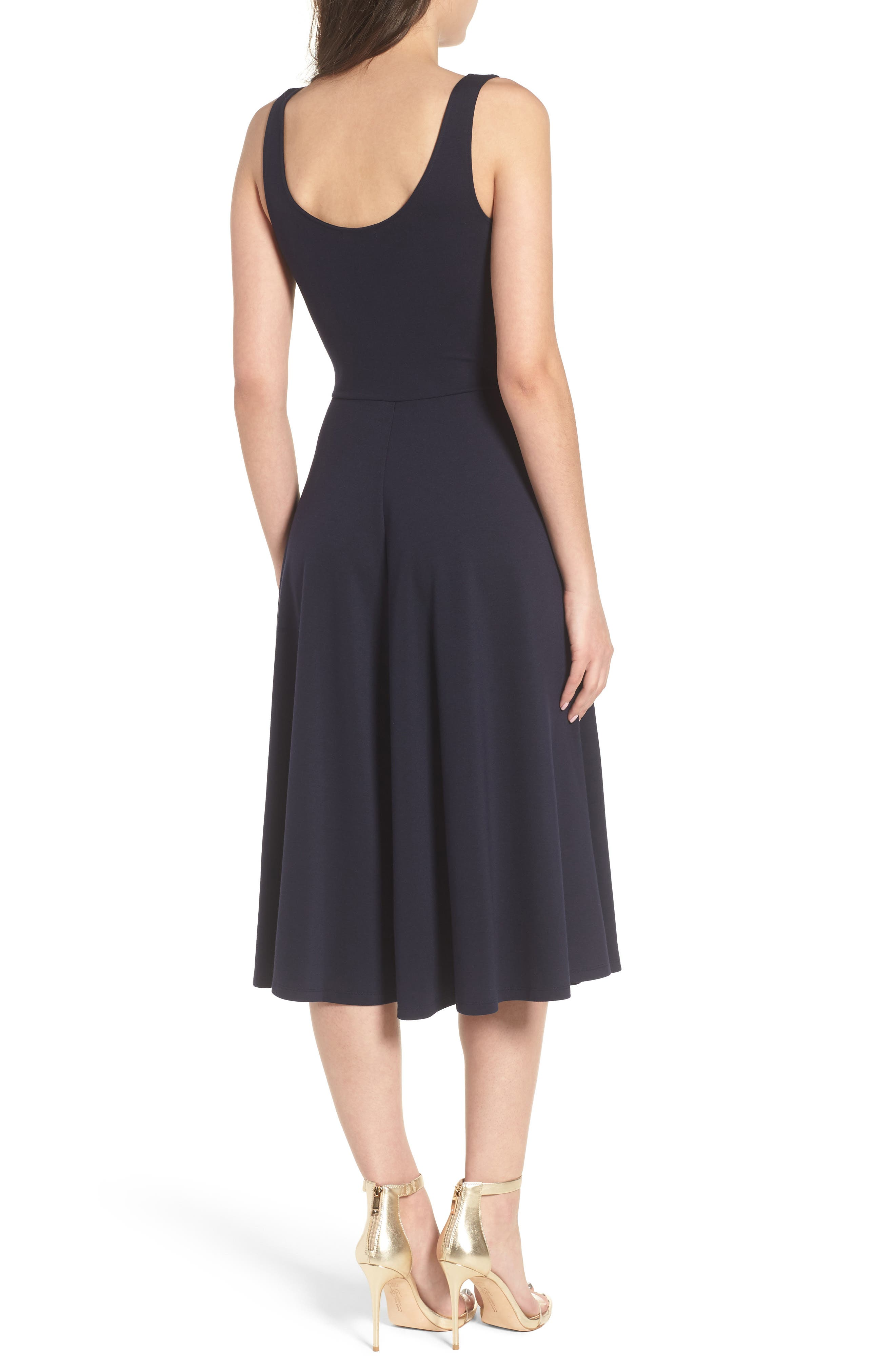 Stretch Knit Midi Dress,                             Alternate thumbnail 2, color,                             410