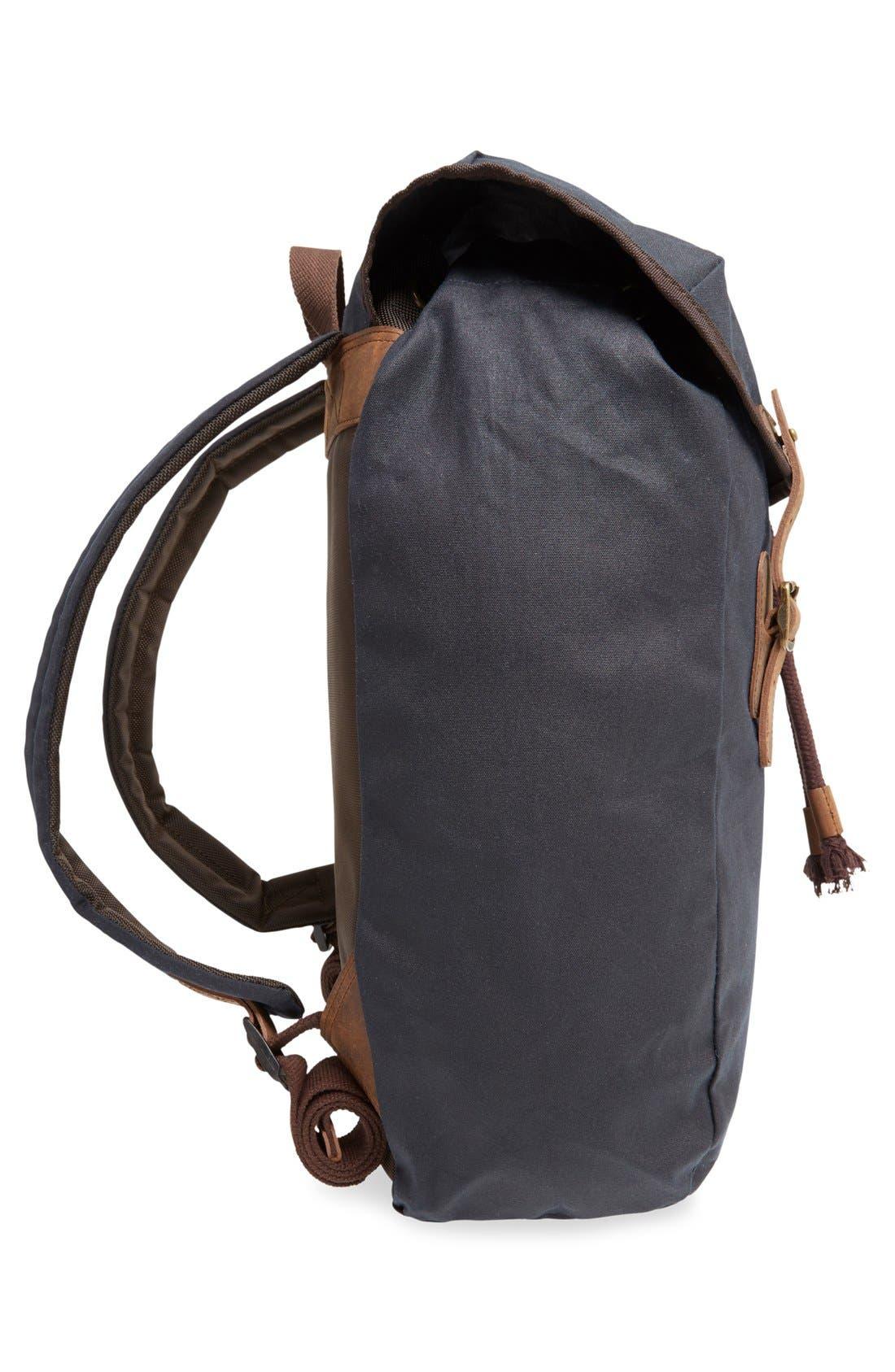 Waxed Canvas Backpack,                             Alternate thumbnail 8, color,