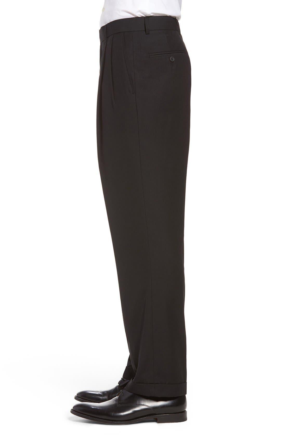 Pleated Microfiber Dress Pants,                             Alternate thumbnail 18, color,
