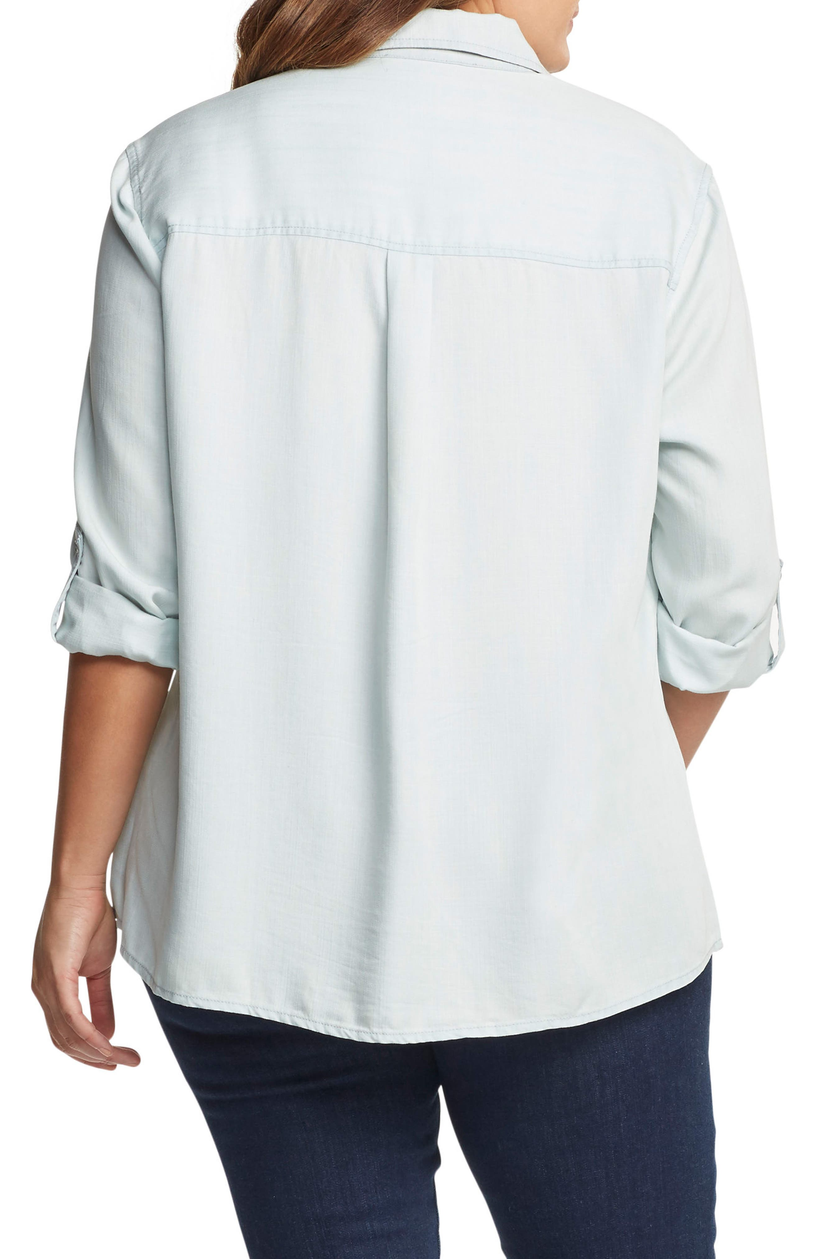 Caroline Roll Sleeve Top,                             Alternate thumbnail 2, color,                             451