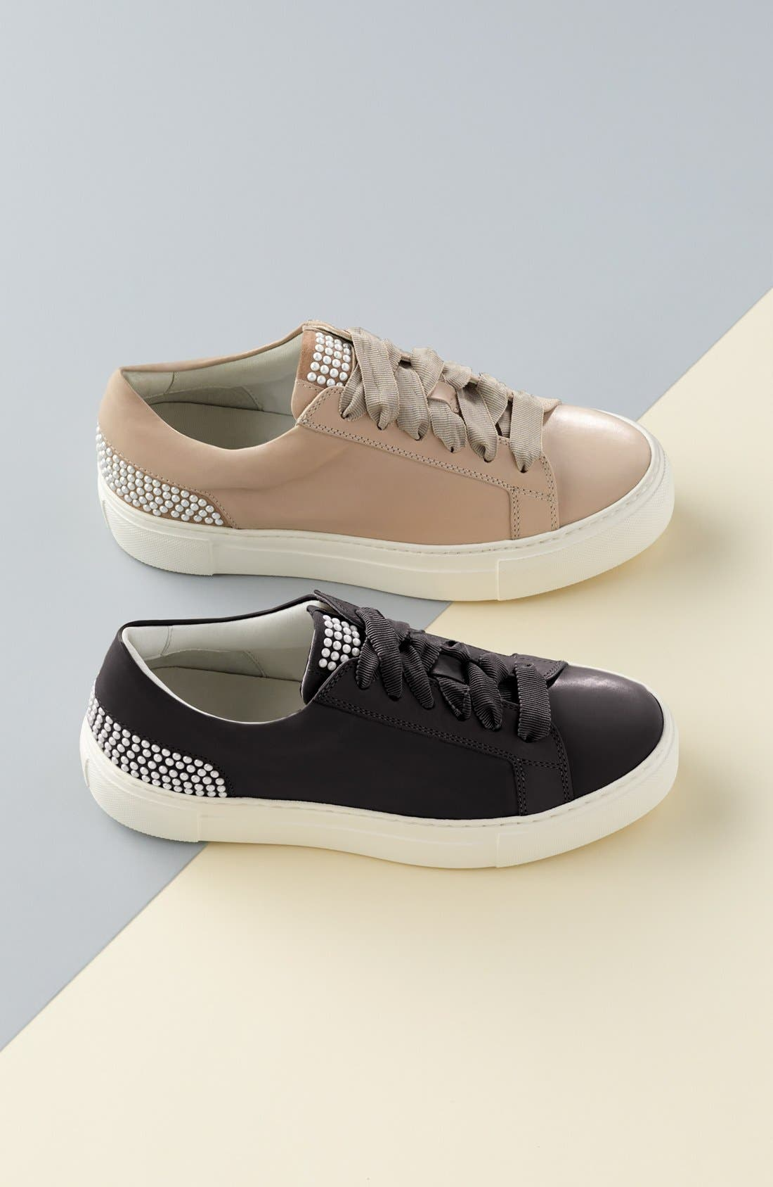 Pearl Sneaker,                             Alternate thumbnail 8, color,                             BLACK