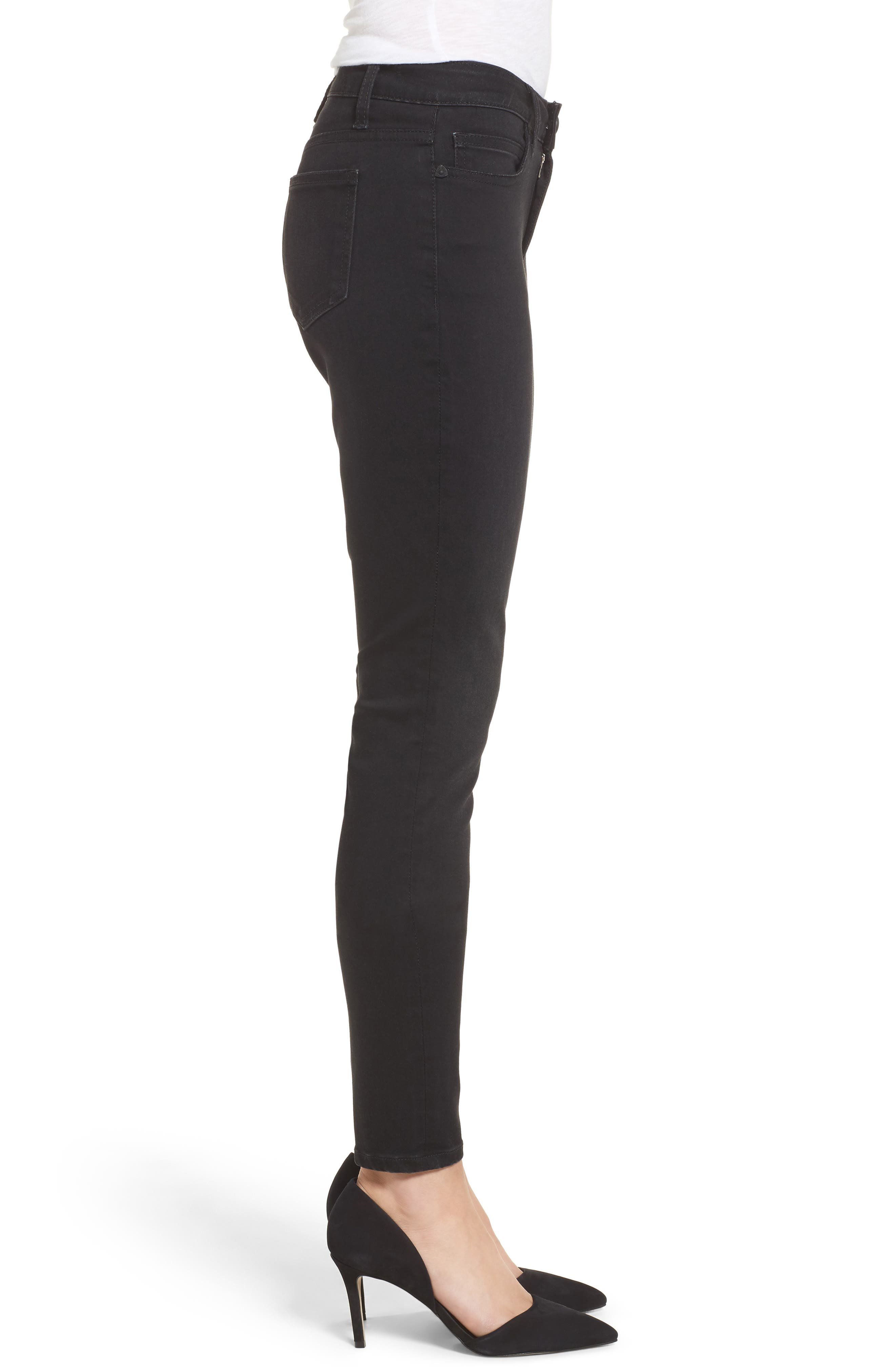 Mia Curvy Fit Skinny Jeans,                             Alternate thumbnail 3, color,                             002