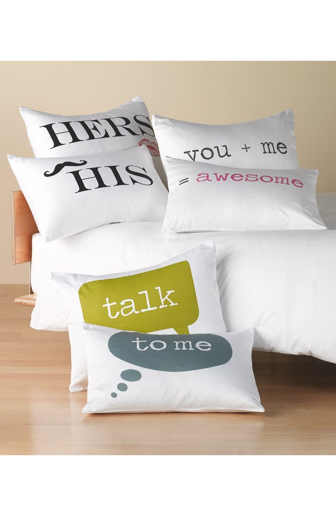 'His & Hers' Pillowcases,                             Alternate thumbnail 2, color,                             100