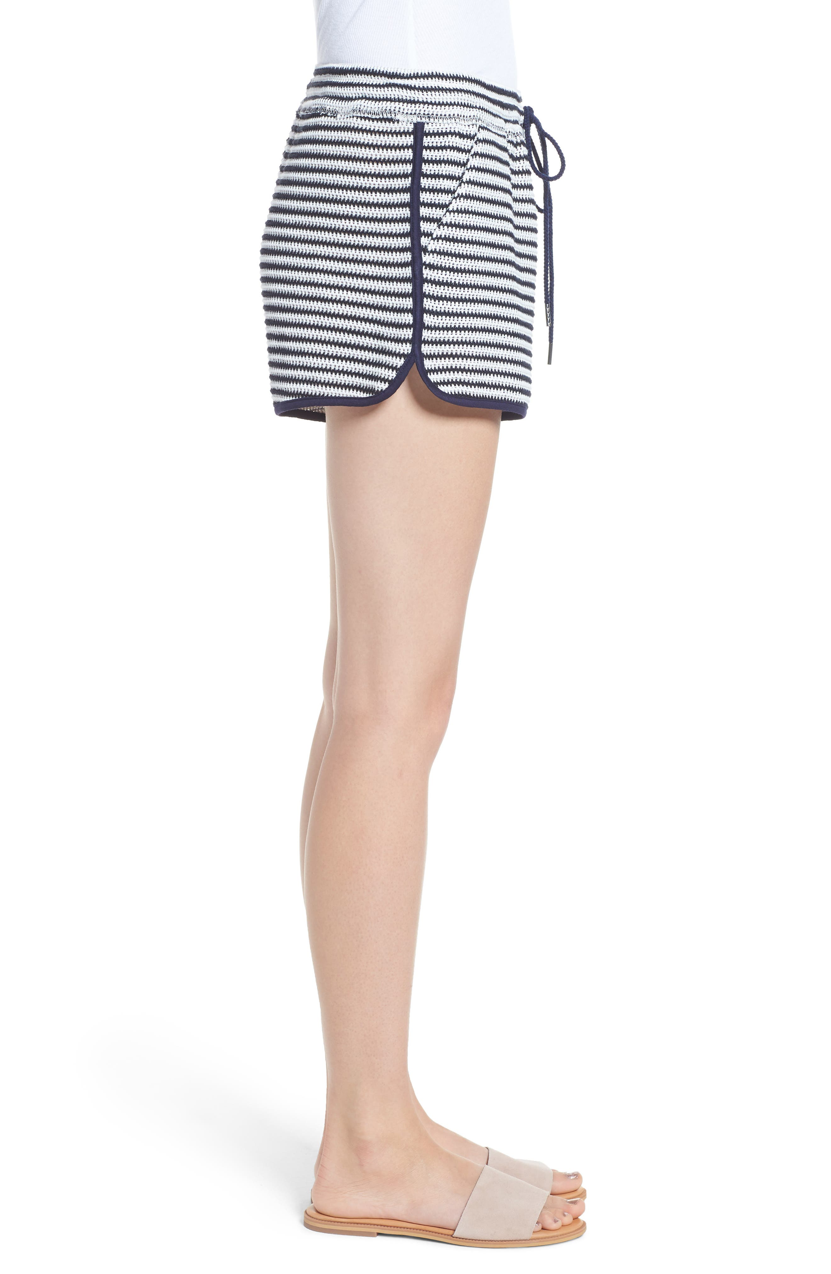 Stripe Shorts,                             Alternate thumbnail 3, color,                             NAVY/ WHITE