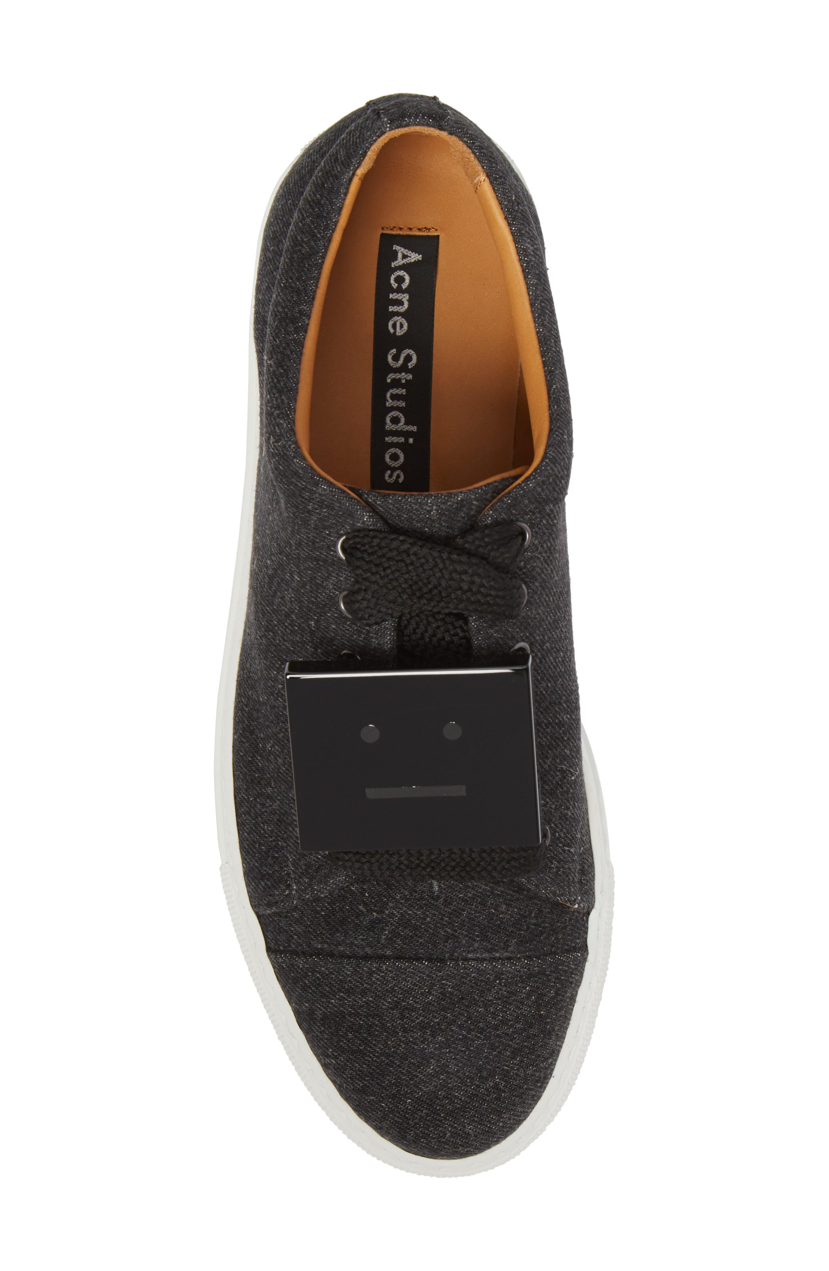 Drihanna Denim Platform Sneaker,                             Alternate thumbnail 5, color,                             001