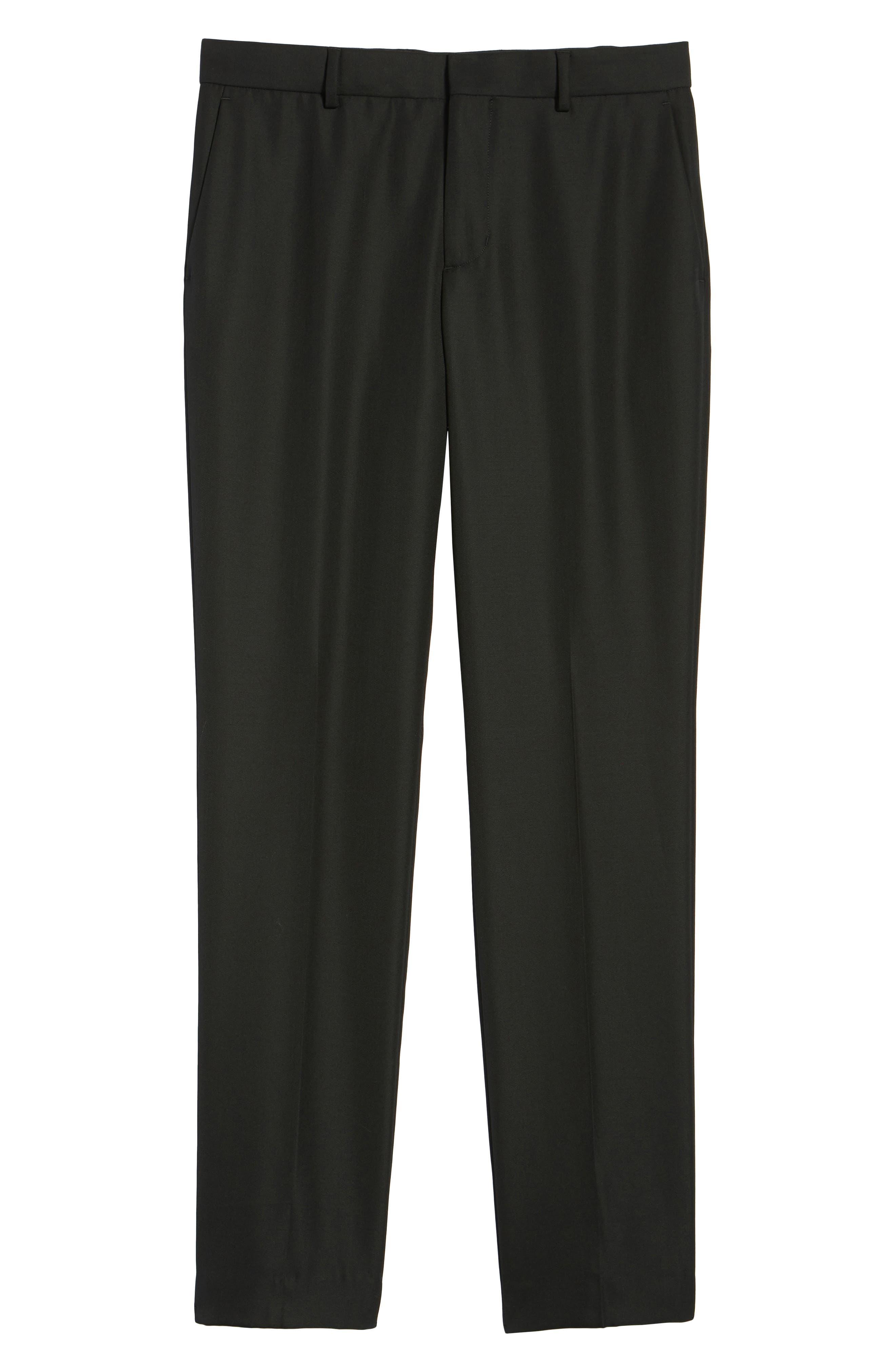 Classic Slim Fit Trousers,                             Alternate thumbnail 6, color,                             400