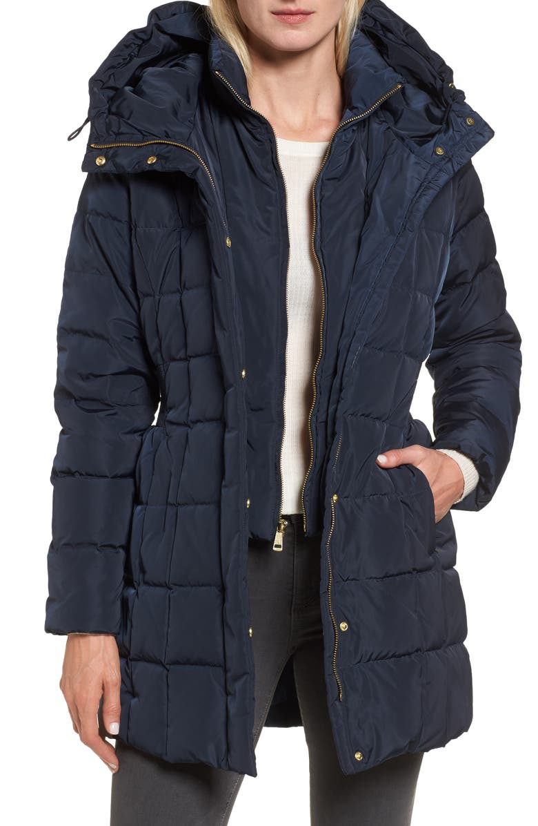 Cole Haan Hooded Down & Feather Jacket | Nordstrom