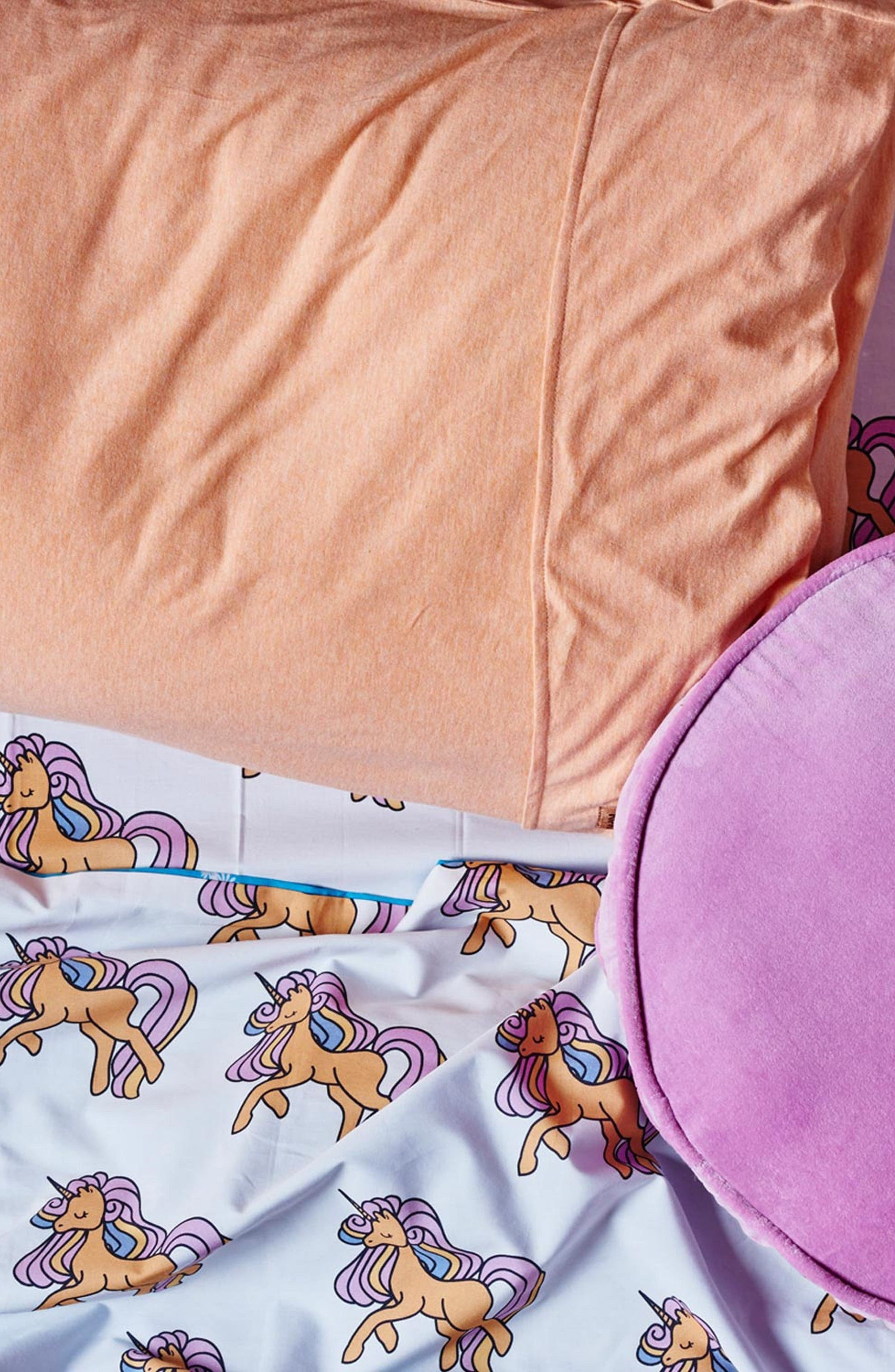 Unicorn Fitted Cotton Sheet,                         Main,                         color, 100