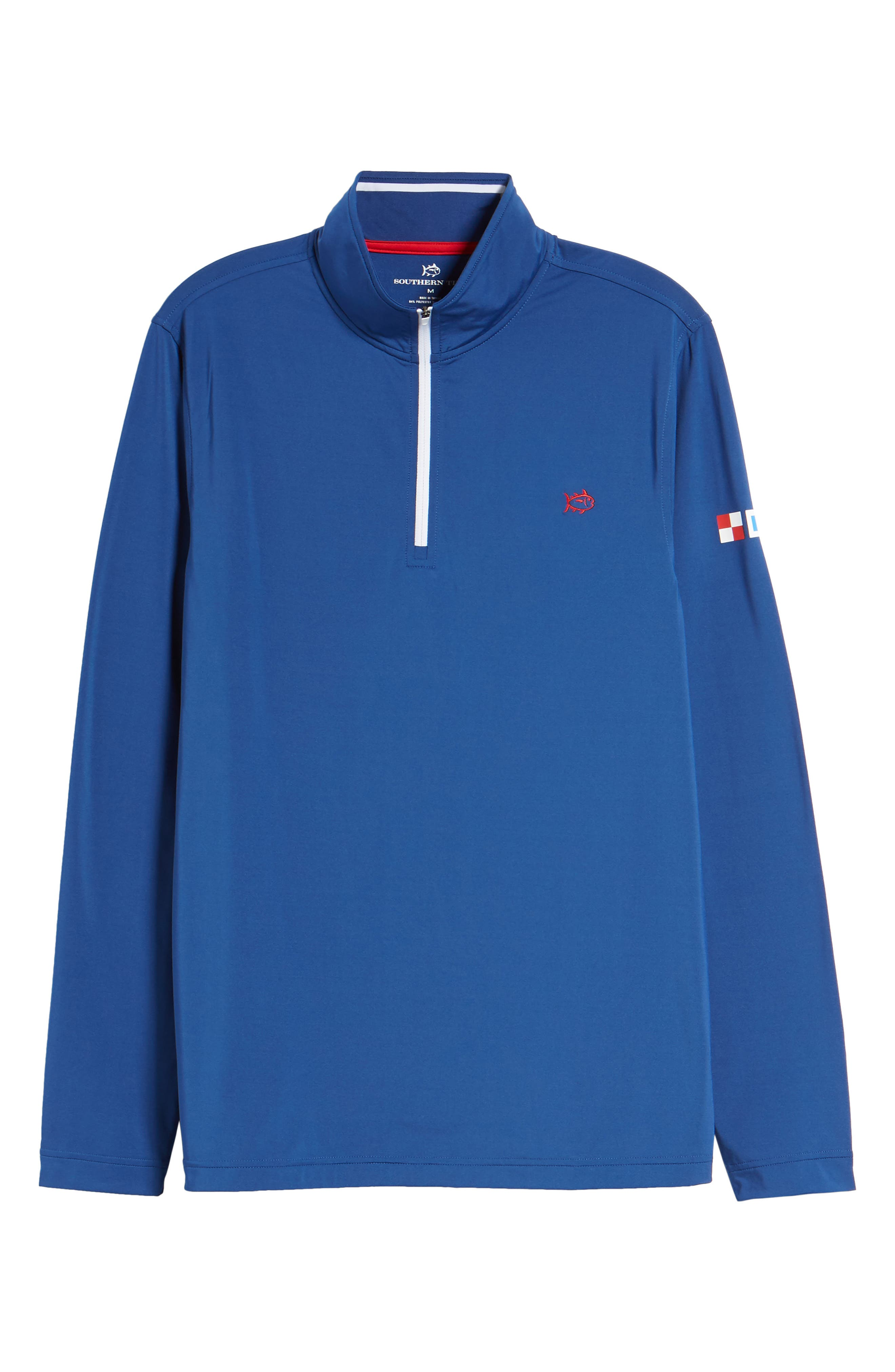 USA Performance Quarter-Zip Pullover,                             Alternate thumbnail 5, color,                             400