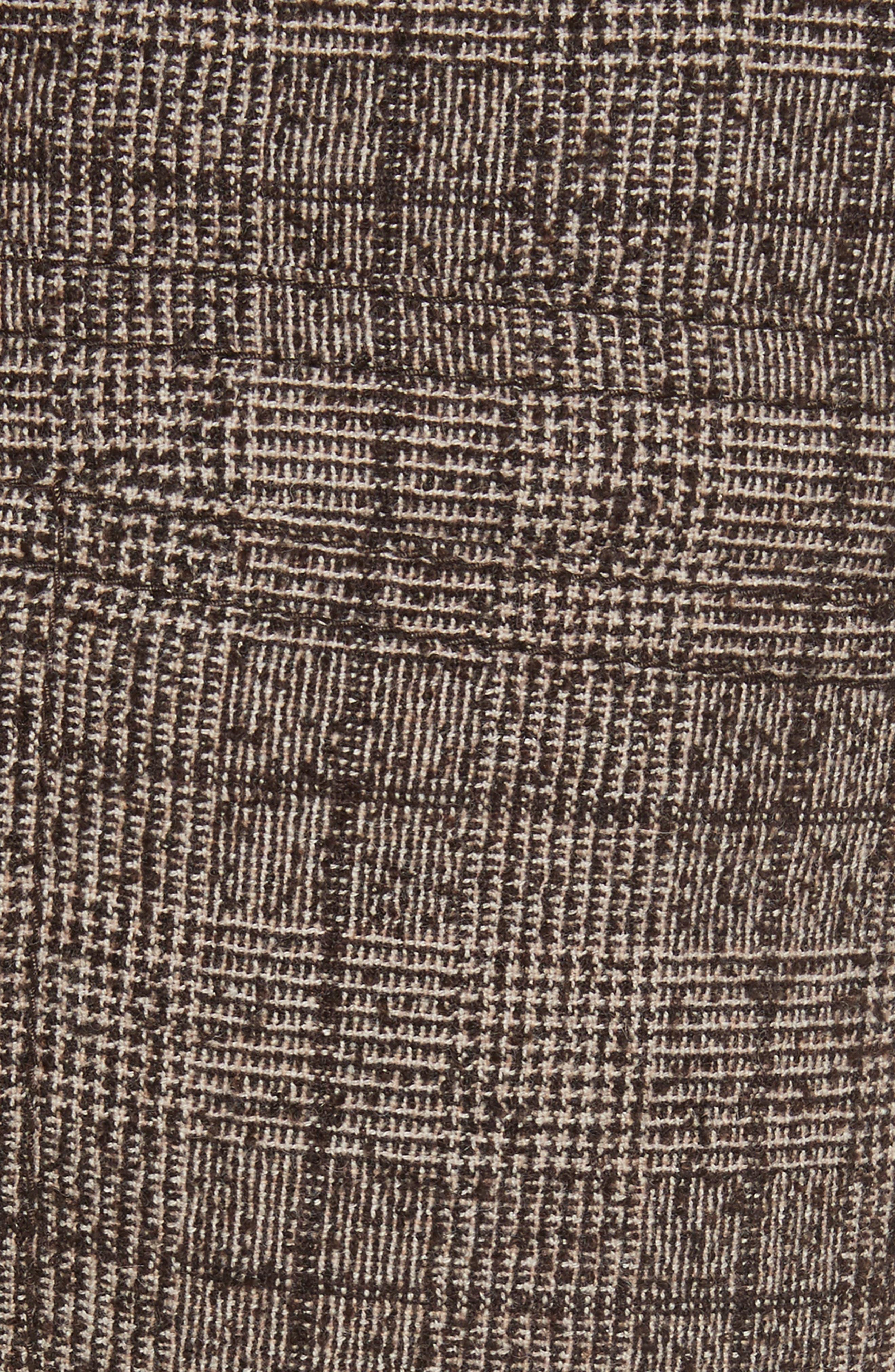 Plaid Tweed Crop Pants,                             Alternate thumbnail 5, color,                             201