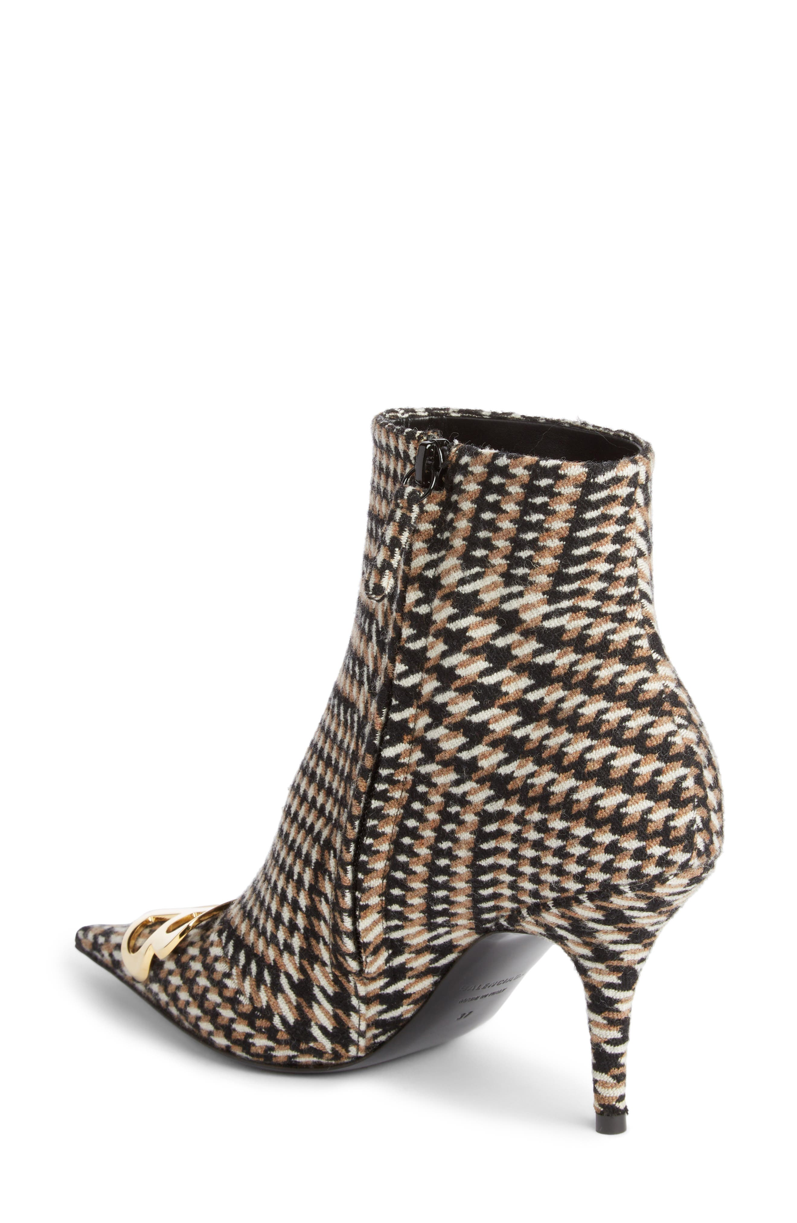 BB Pointy Toe Bootie,                             Alternate thumbnail 2, color,                             BLACK/ WHITE/ CAMEL