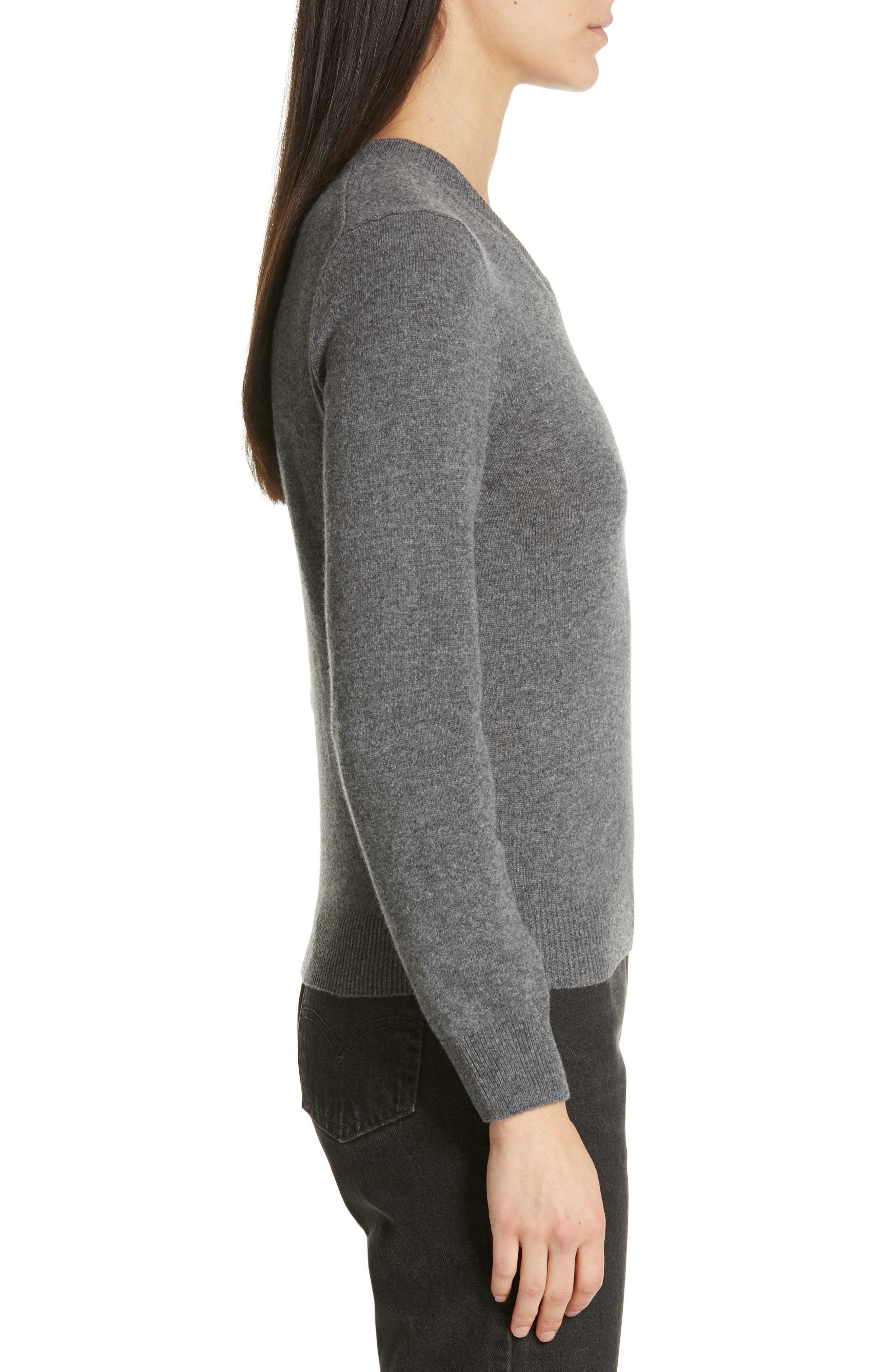 Heart Wool Pullover,                             Alternate thumbnail 3, color,                             GREY