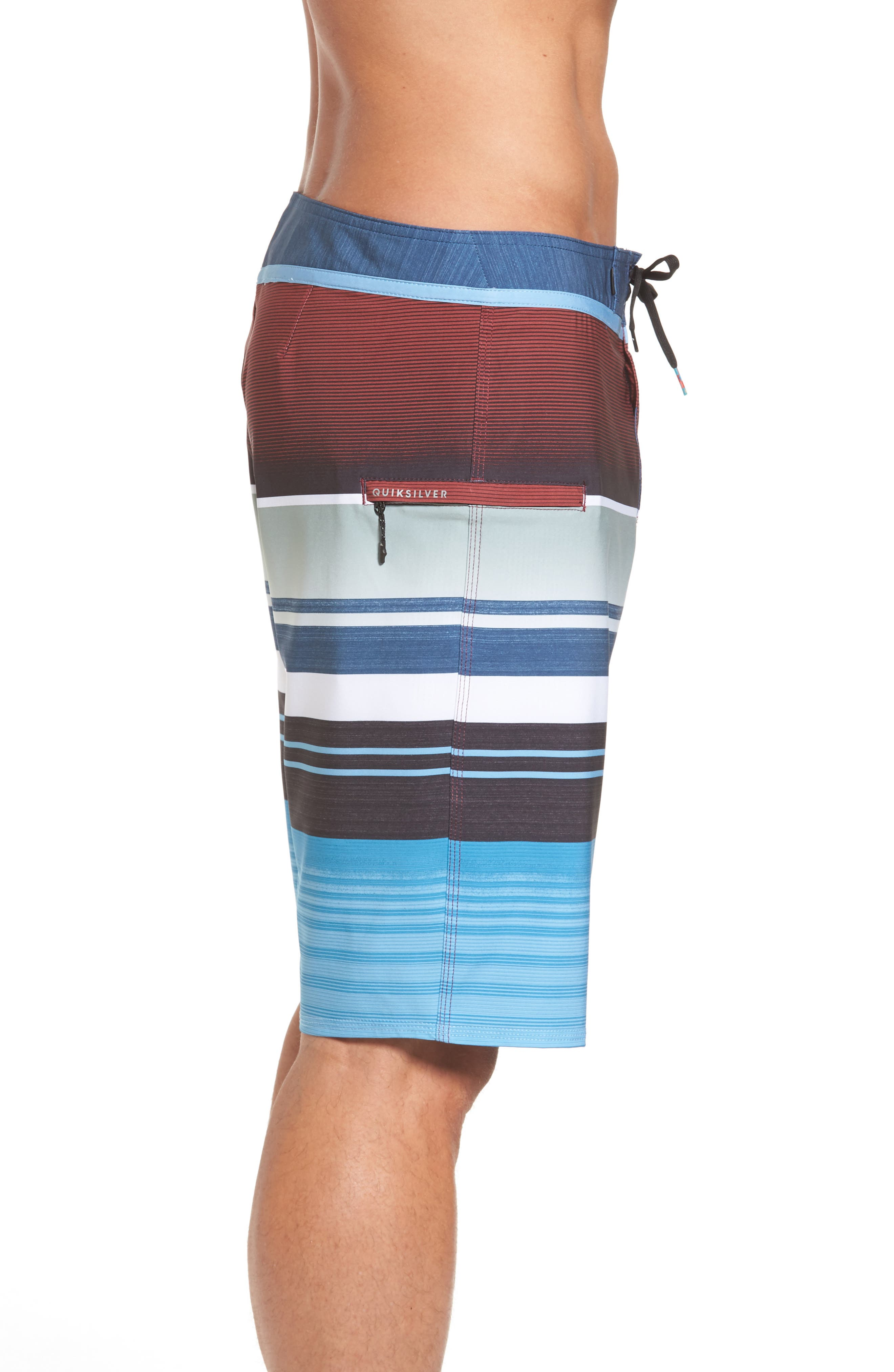 Everyday Stripe Board Shorts,                             Alternate thumbnail 3, color,                             401