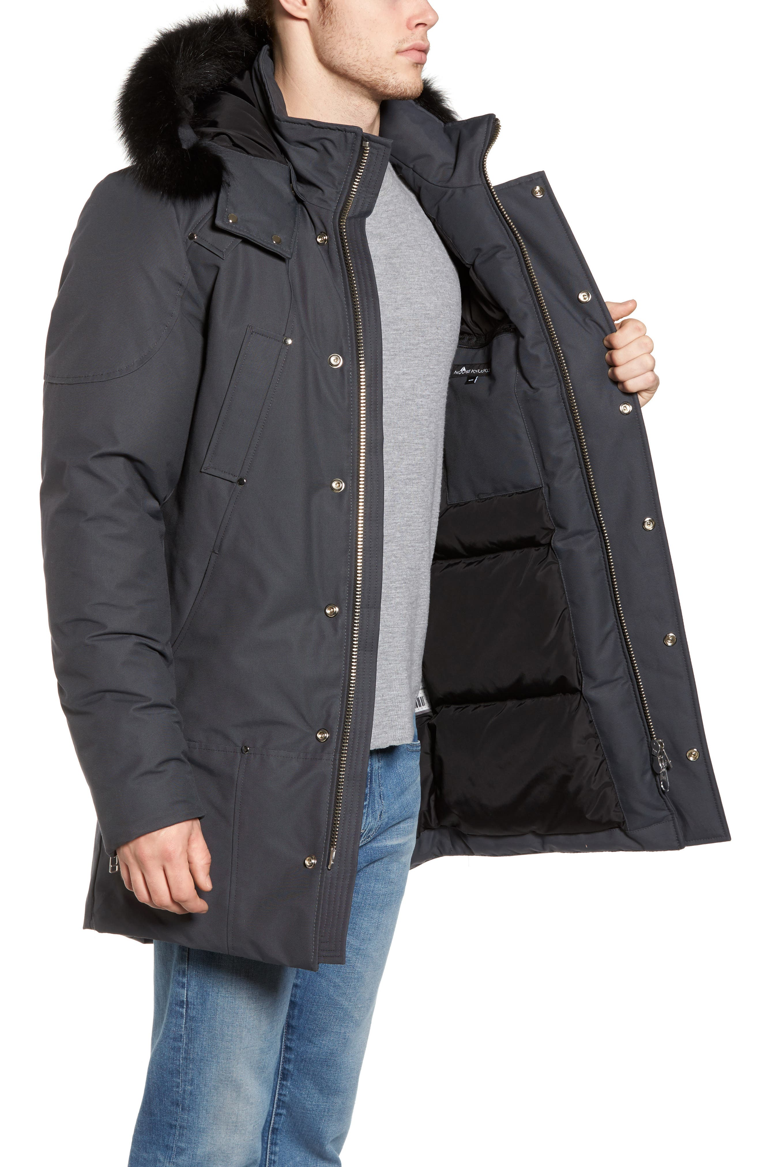 Stirling Water Repellent Down Parka with Genuine Fox Fur Trim,                             Alternate thumbnail 12, color,