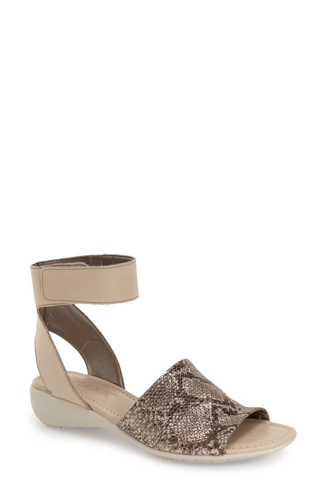'Beglad' Leather Ankle Strap Sandal,                             Main thumbnail 15, color,