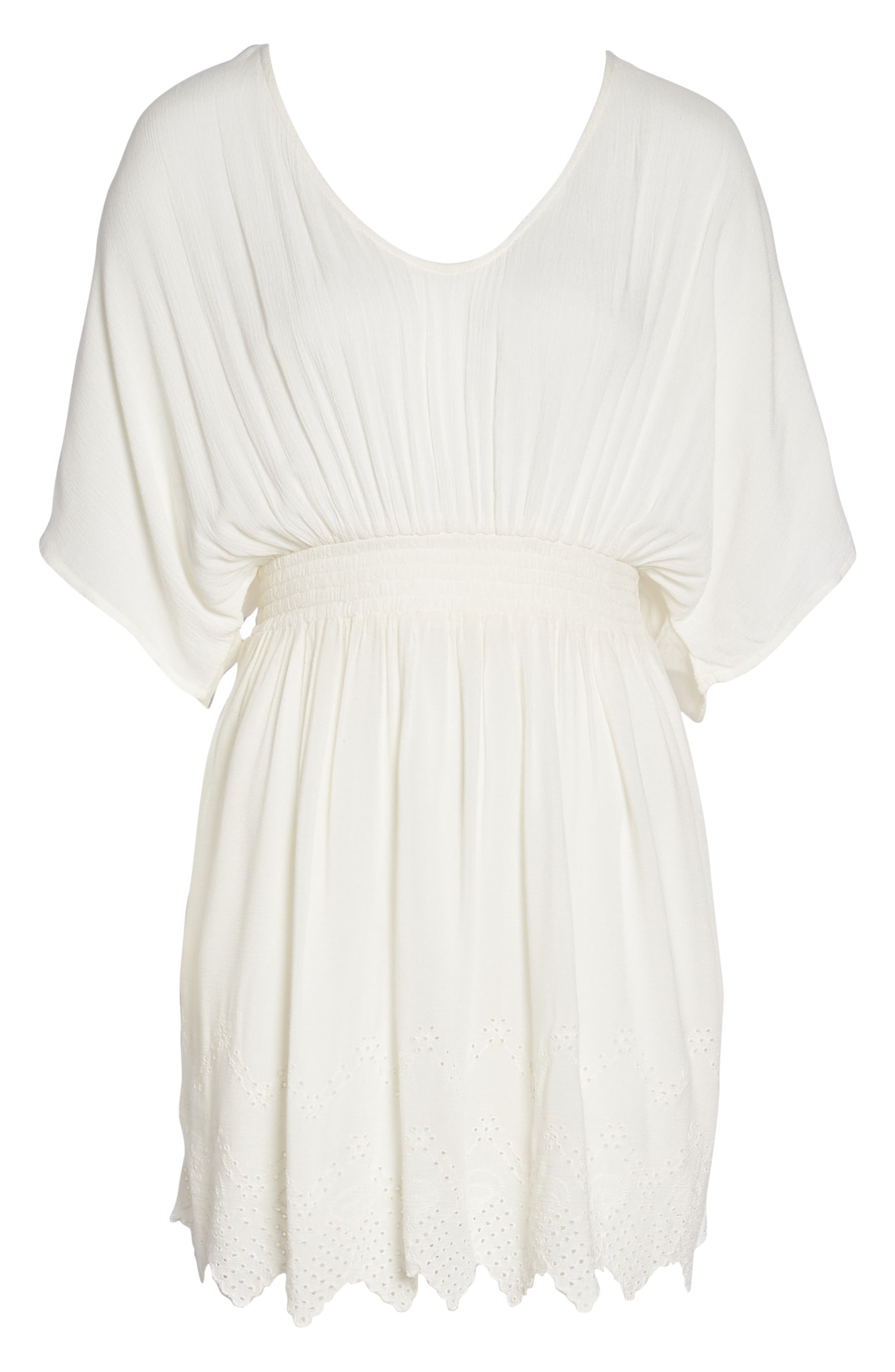 Goddess Cover-Up Dress,                             Alternate thumbnail 6, color,                             IVORY EGRET