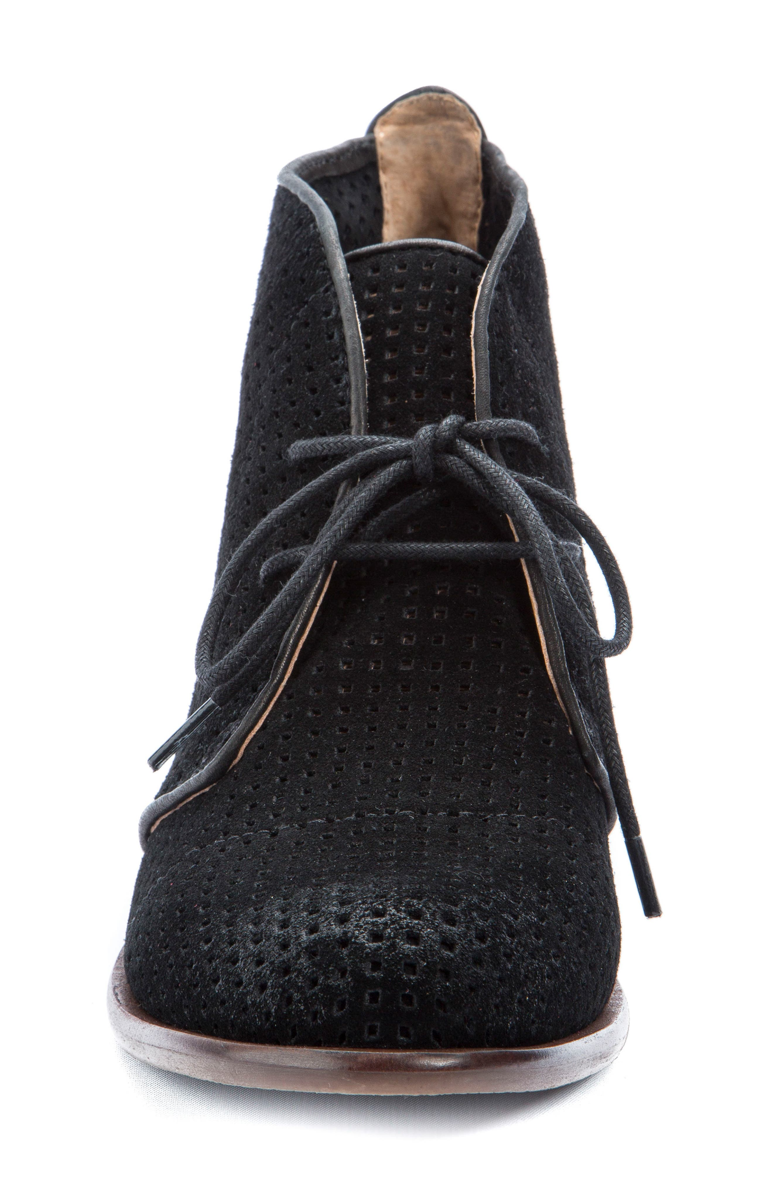 Isaac Lace-Up Bootie,                             Alternate thumbnail 4, color,                             001