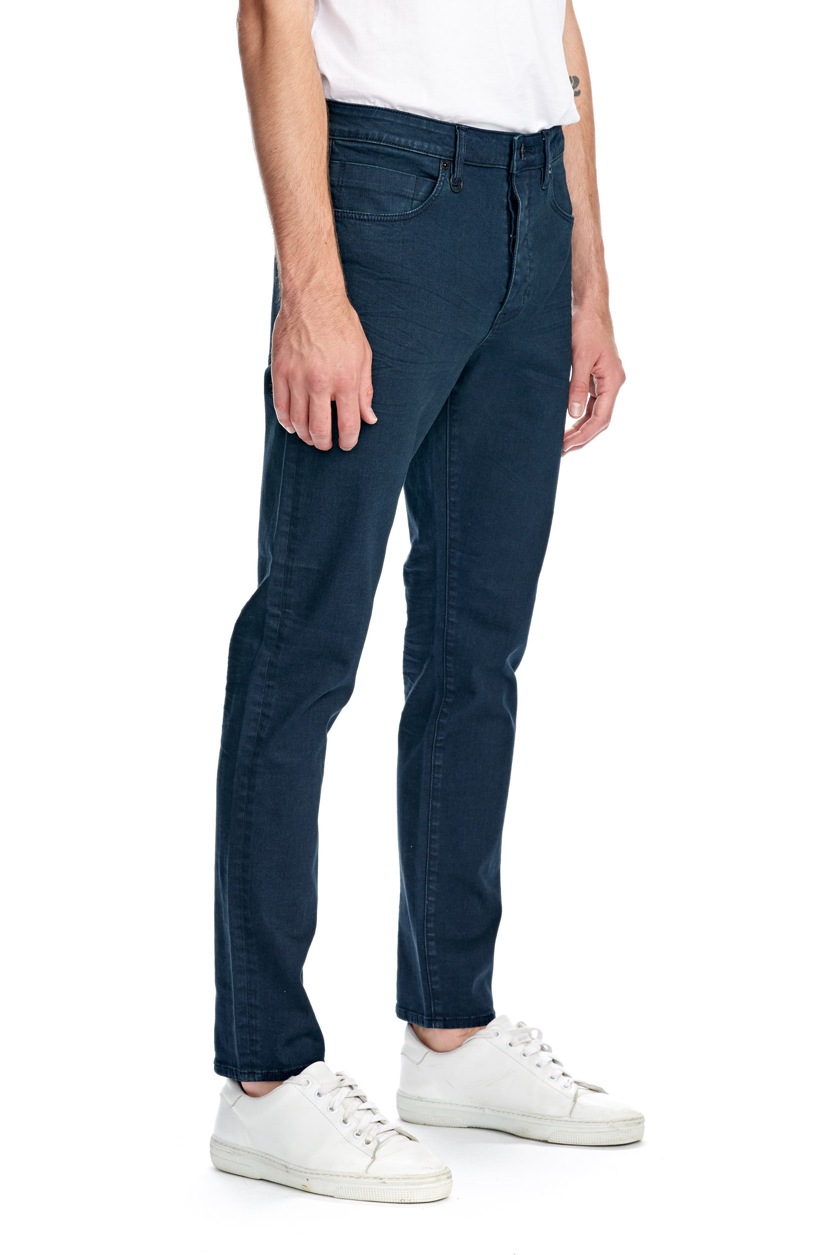 Ray Slim Fit Jeans,                             Alternate thumbnail 3, color,                             NORDIC BLUE