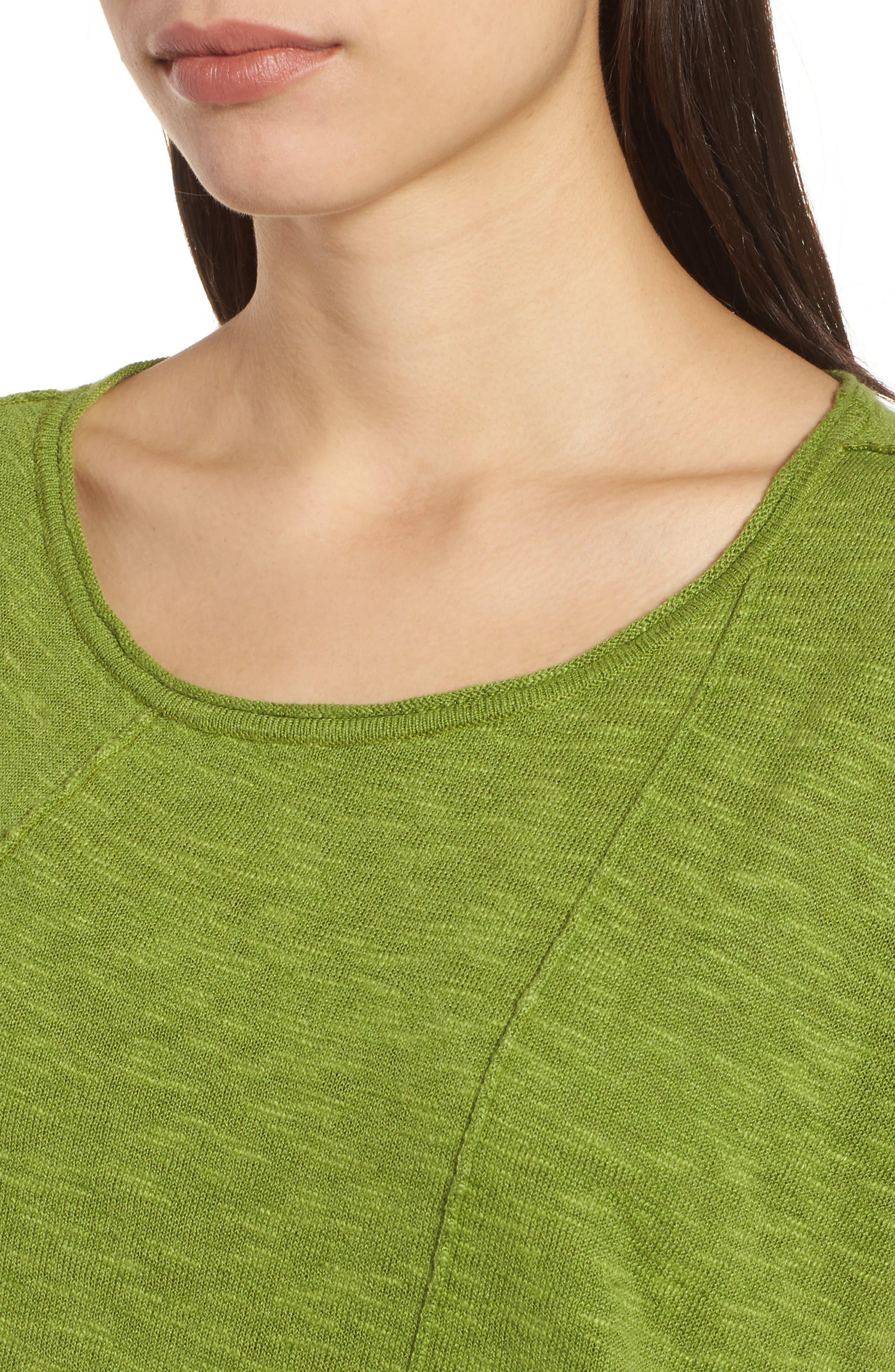 Cap Sleeve Organic Linen & Cotton Scoop Neck Top,                             Alternate thumbnail 59, color,