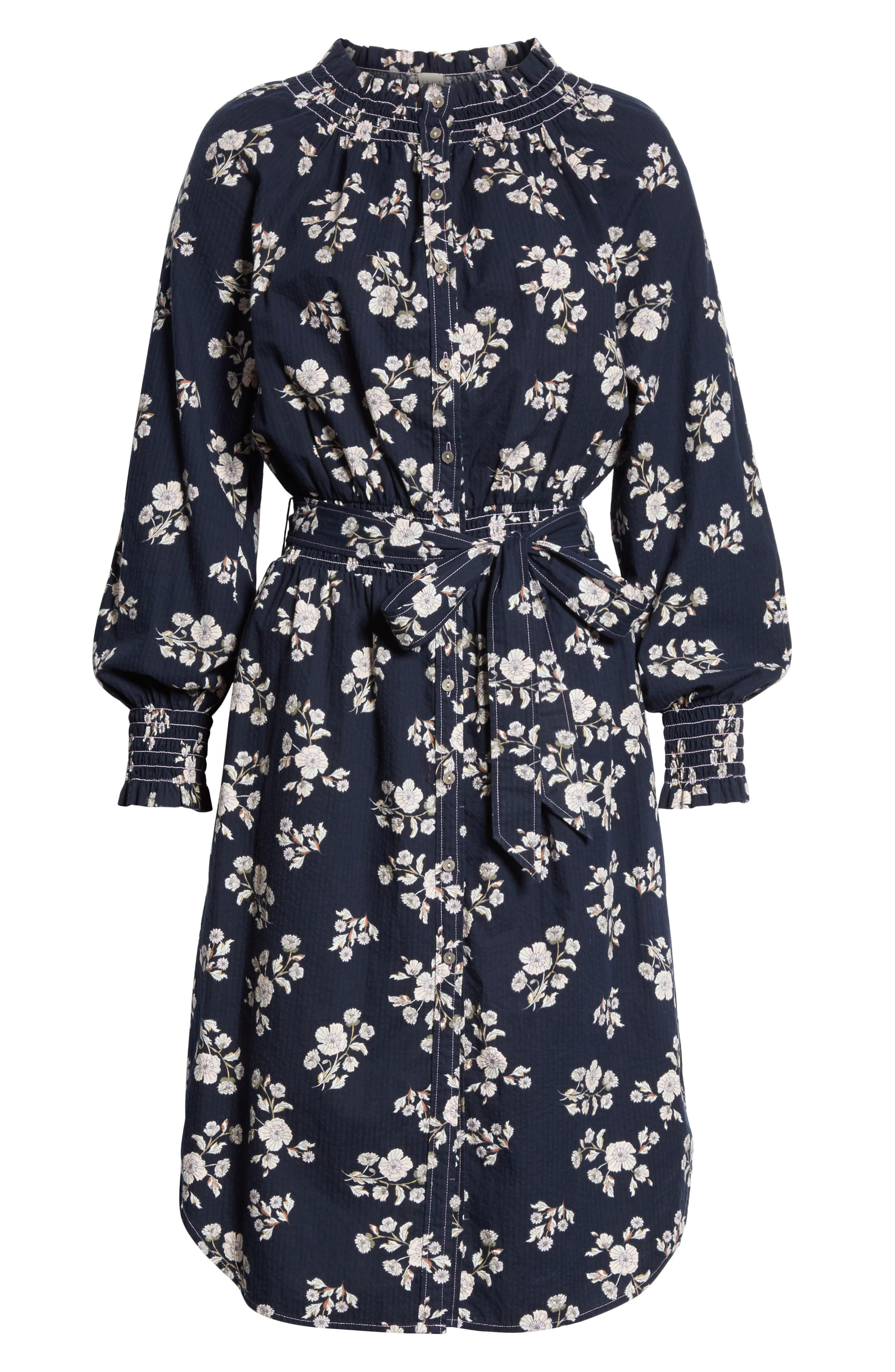 Camille Floral Shirtdress,                             Alternate thumbnail 6, color,                             410