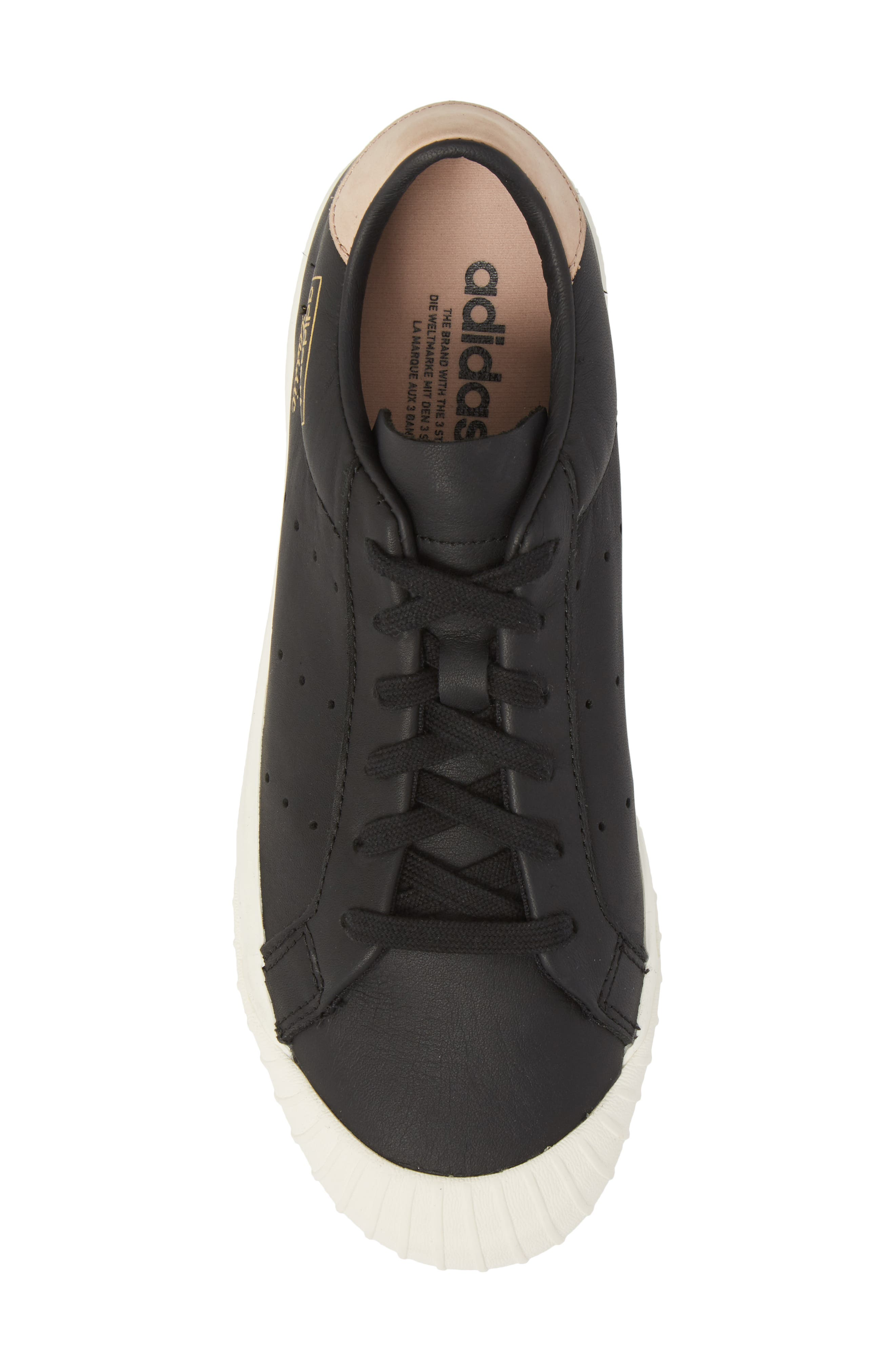 Everyn Perforated Low Top Sneaker,                             Alternate thumbnail 5, color,                             001