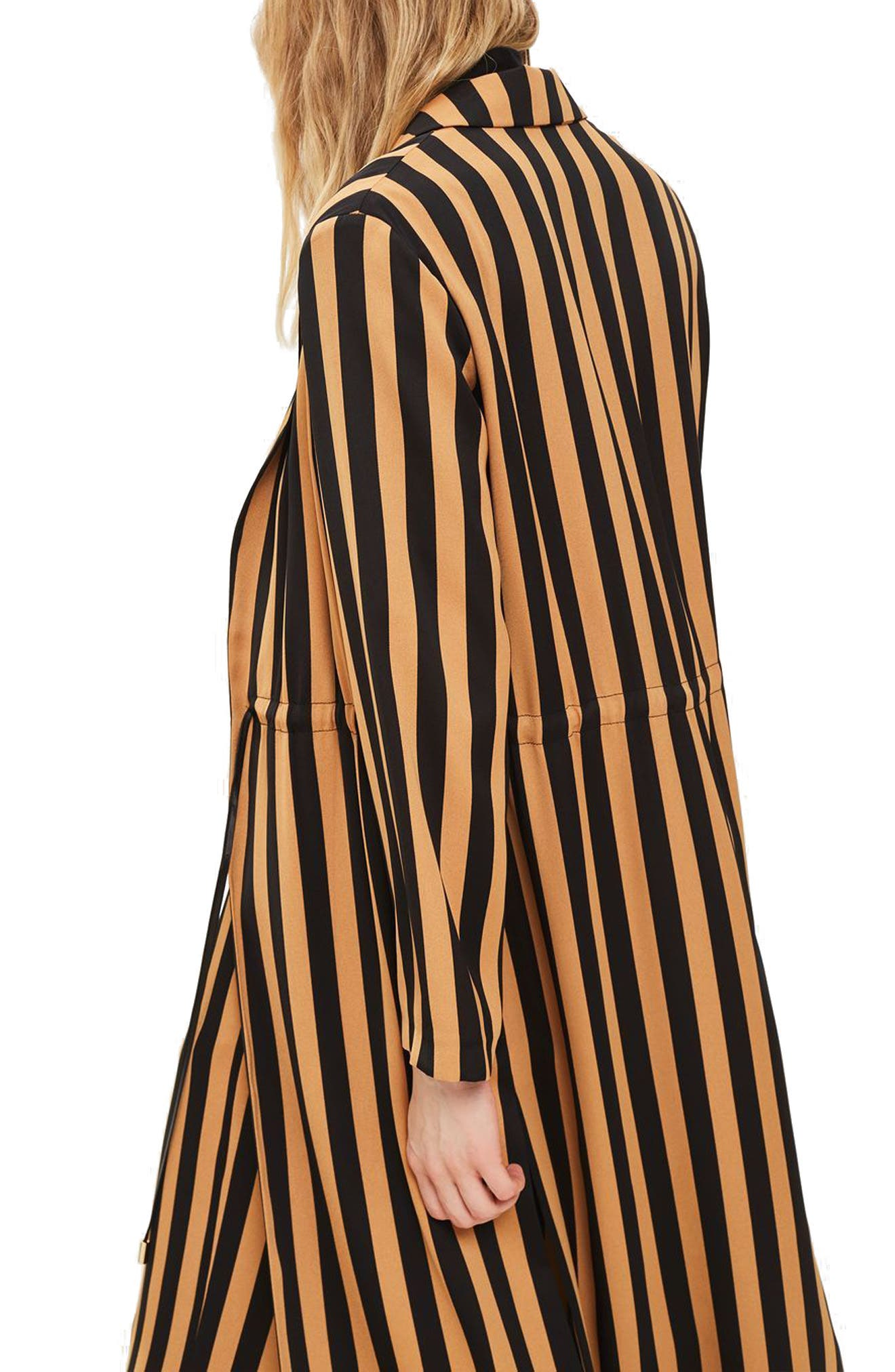 TOPSHOP,                             Stripe Duster Jacket,                             Alternate thumbnail 2, color,                             201