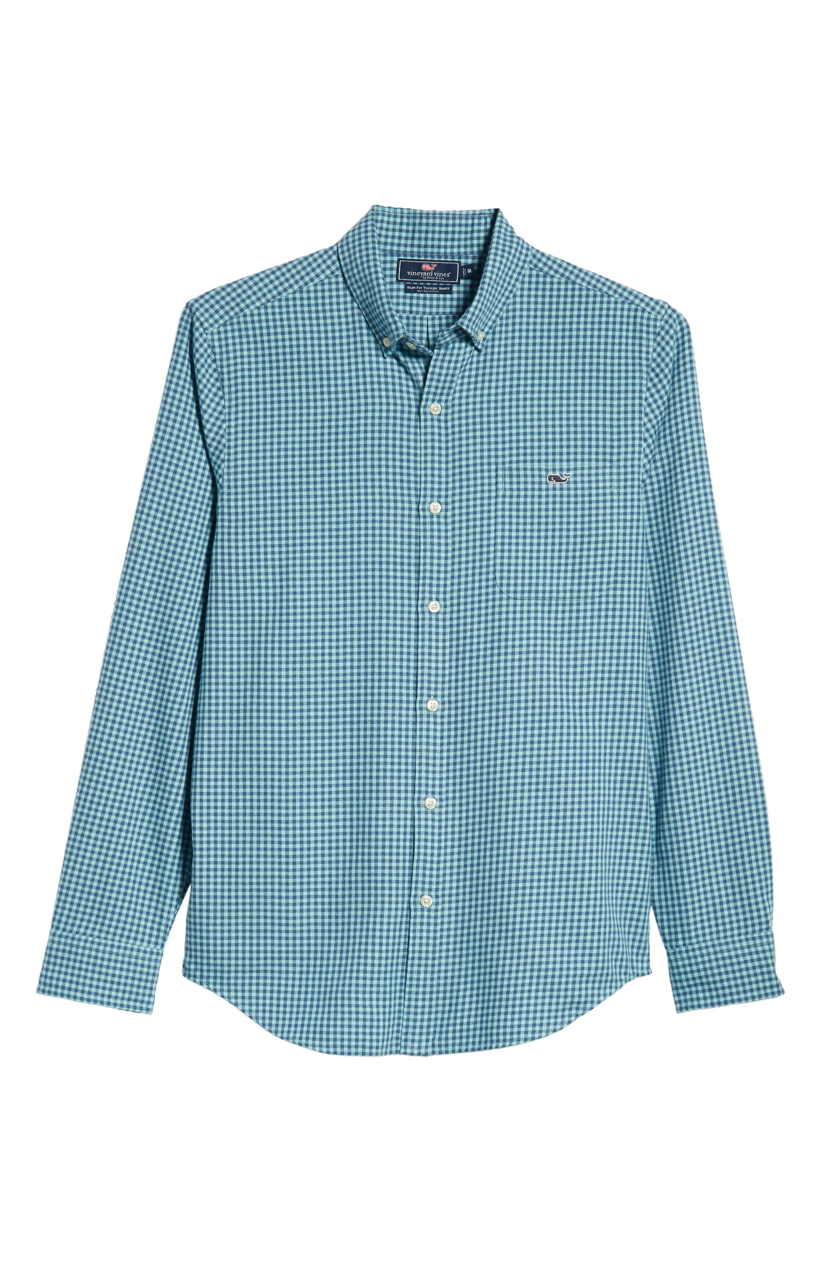 Tradewinds Slim Fit Check Flannel Shirt,                             Alternate thumbnail 5, color,                             POOL SIDE