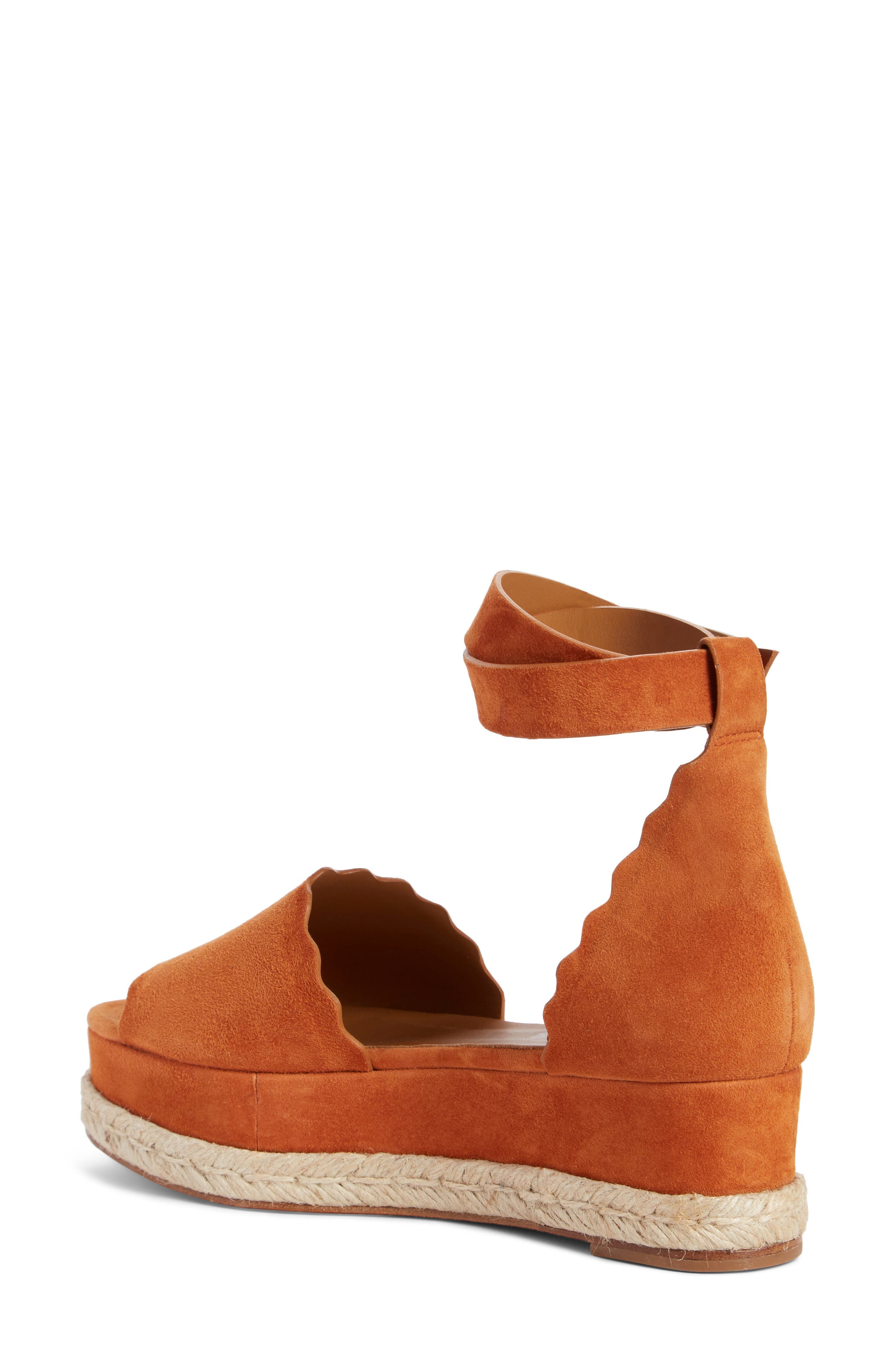 Lauren Espadrille Wedge Sandal,                             Alternate thumbnail 2, color,                             OCHRE DELIGHT