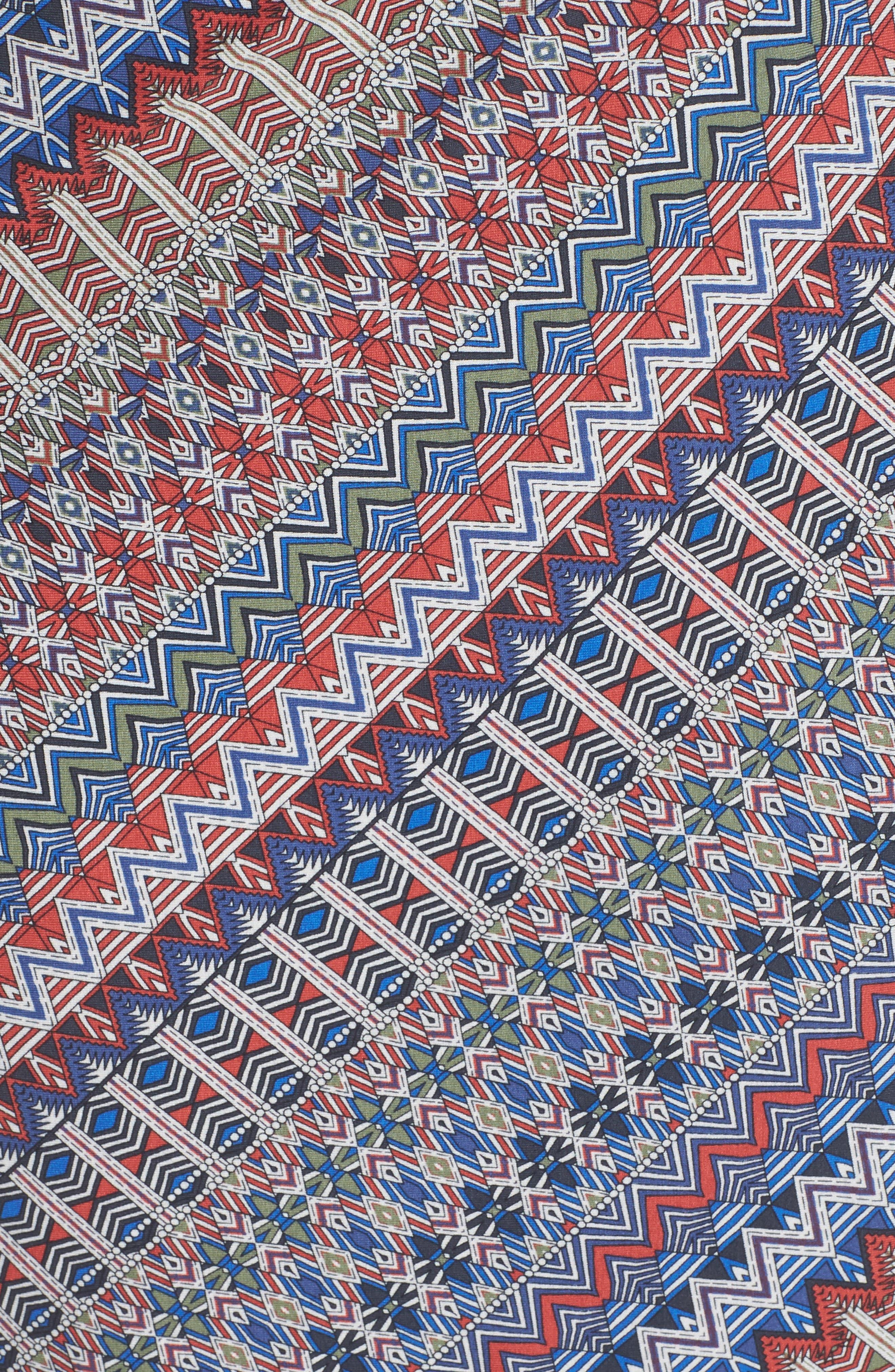 Zigzag Twist Dress,                             Alternate thumbnail 5, color,                             609
