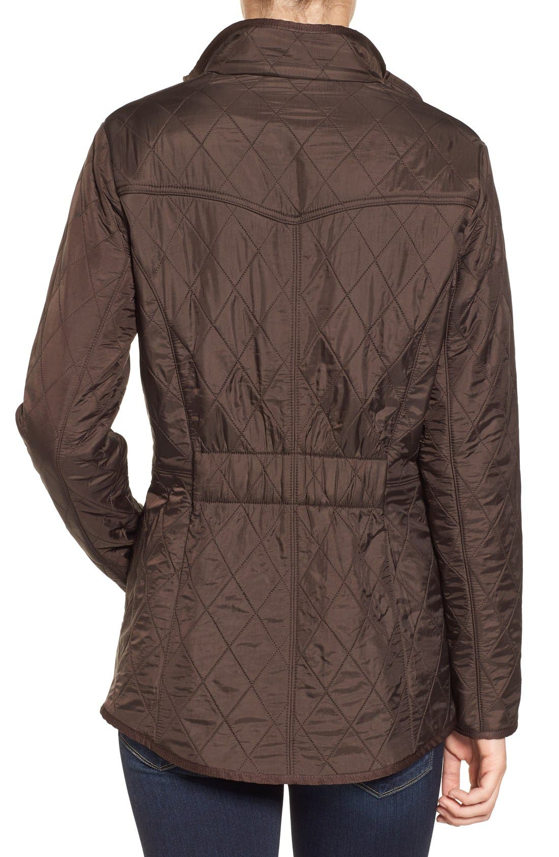 'Cavalry' Quilted Jacket,                             Alternate thumbnail 43, color,
