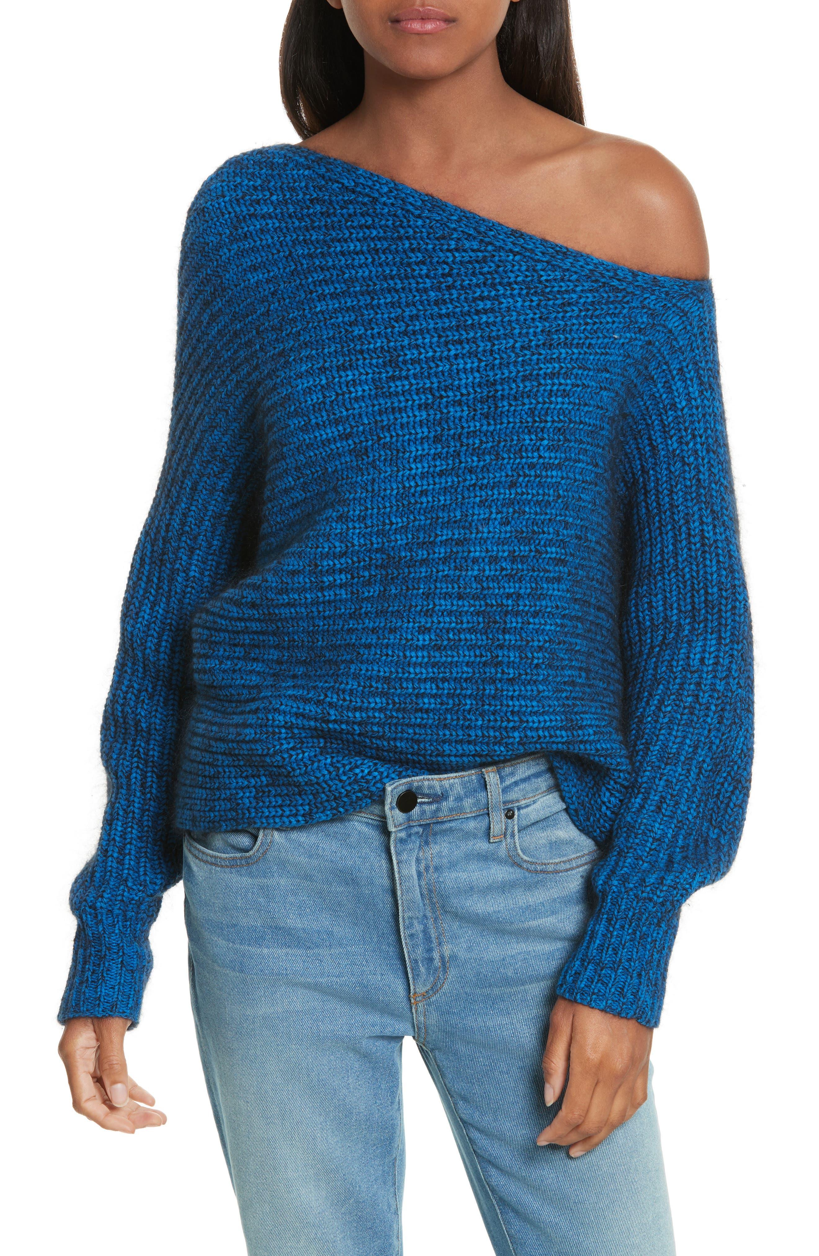 Asymmetrical Knit Sweater,                             Main thumbnail 1, color,                             437