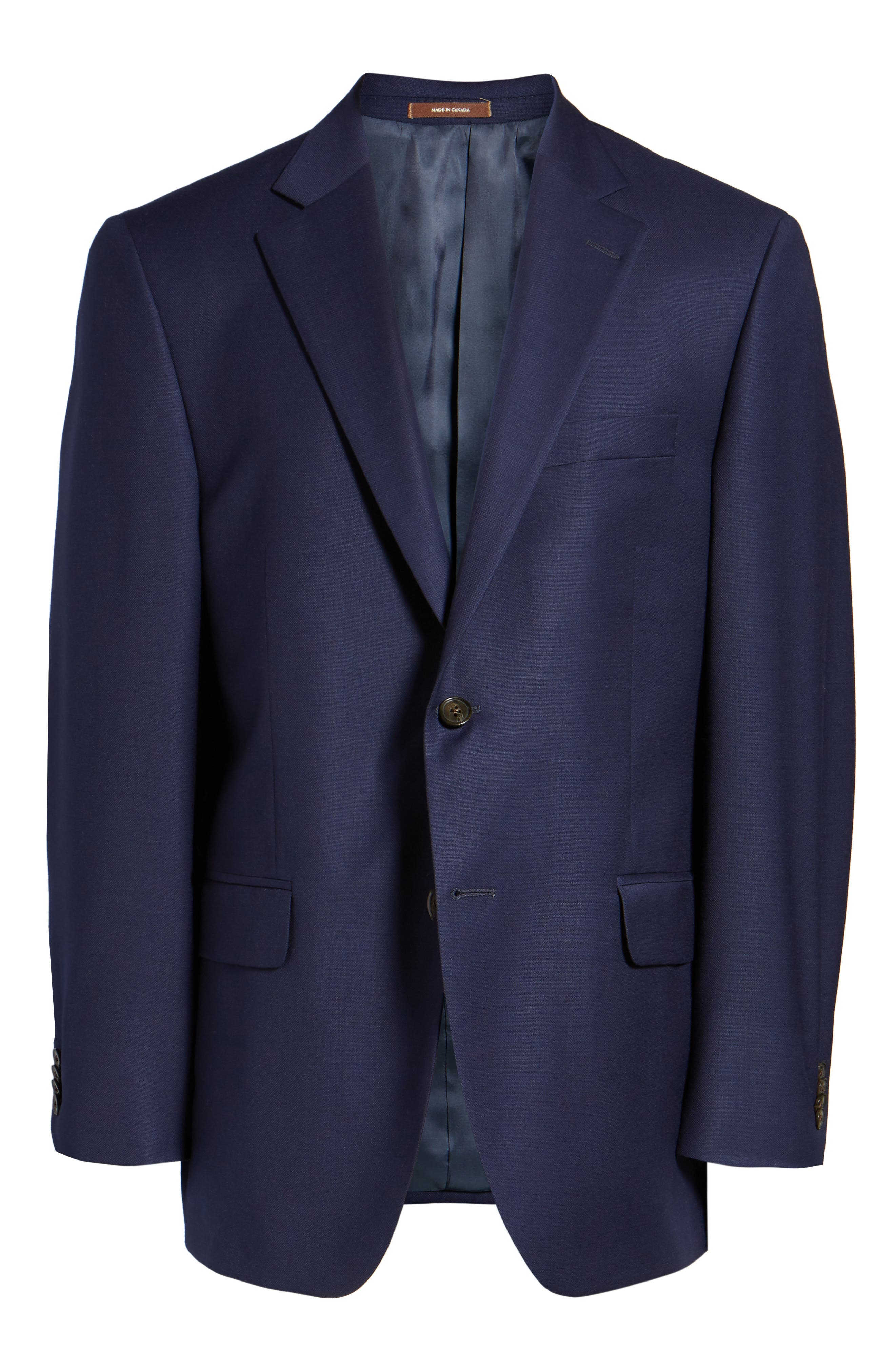 Flynn Classic Fit Wool Blazer,                             Alternate thumbnail 5, color,                             NAVY