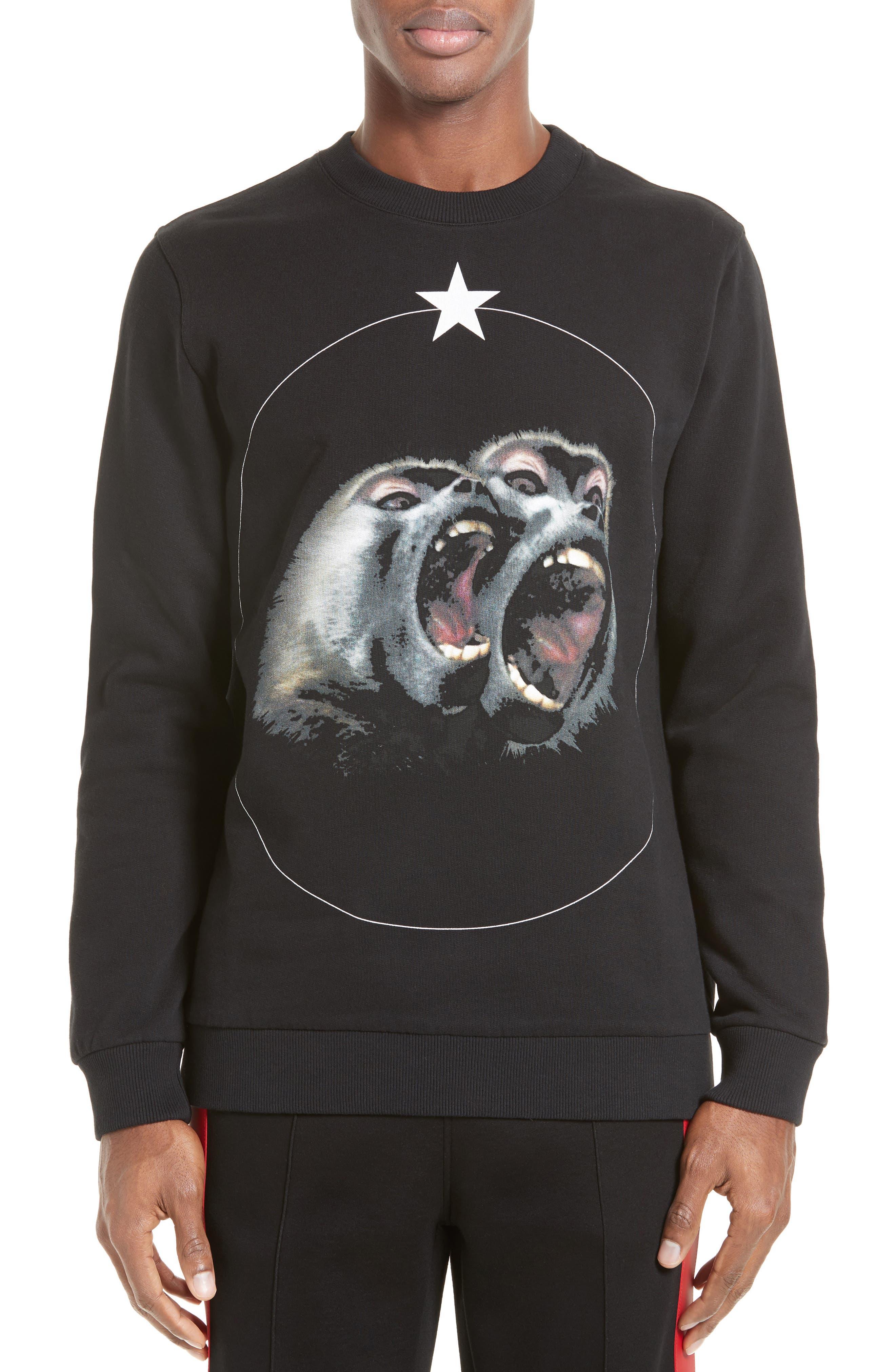 Monkey Brothers Graphic Sweatshirt,                             Main thumbnail 1, color,                             001