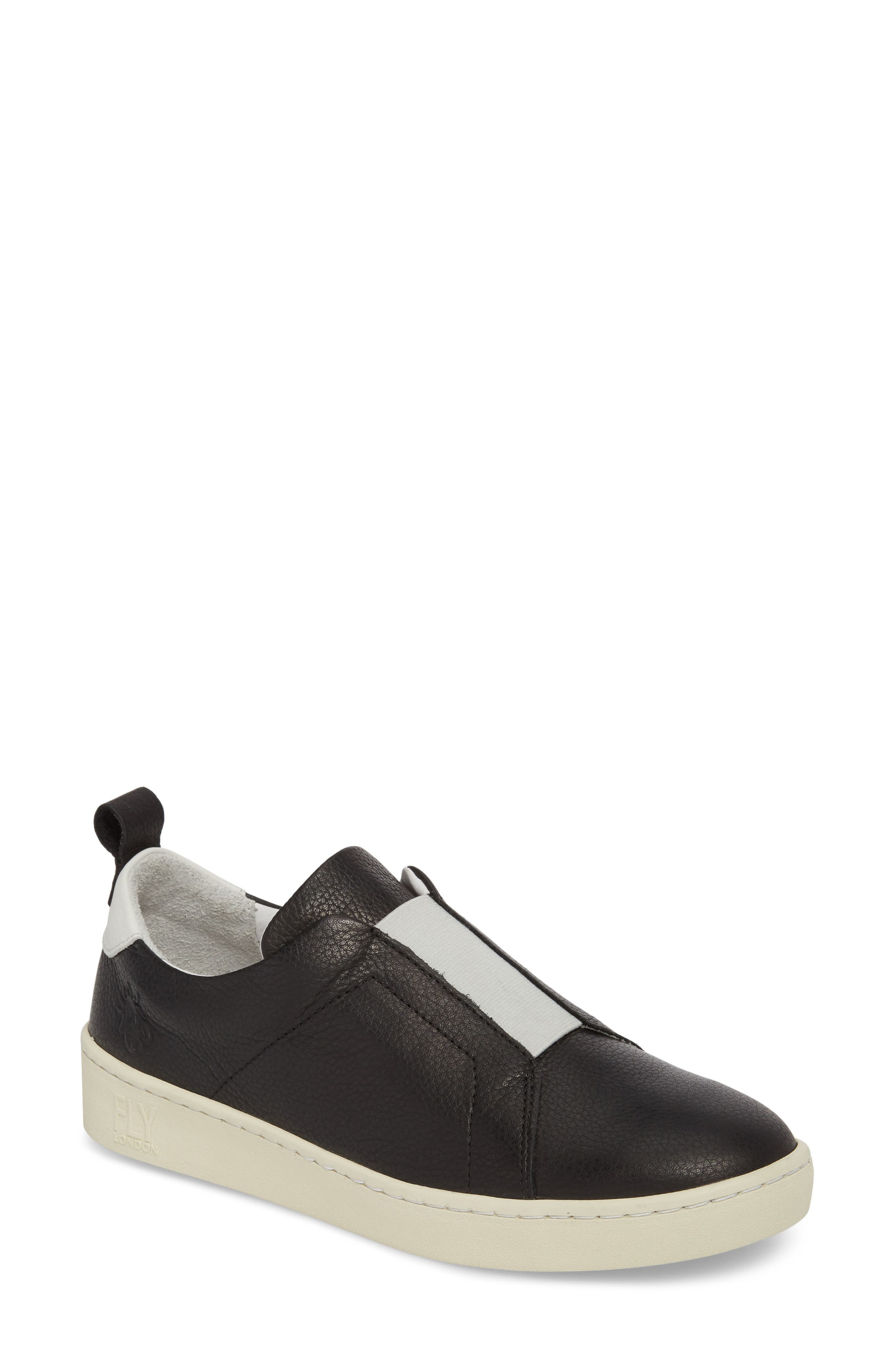 Mutt Slip-On Sneaker,                             Main thumbnail 1, color,                             BLACK BRITO LEATHER