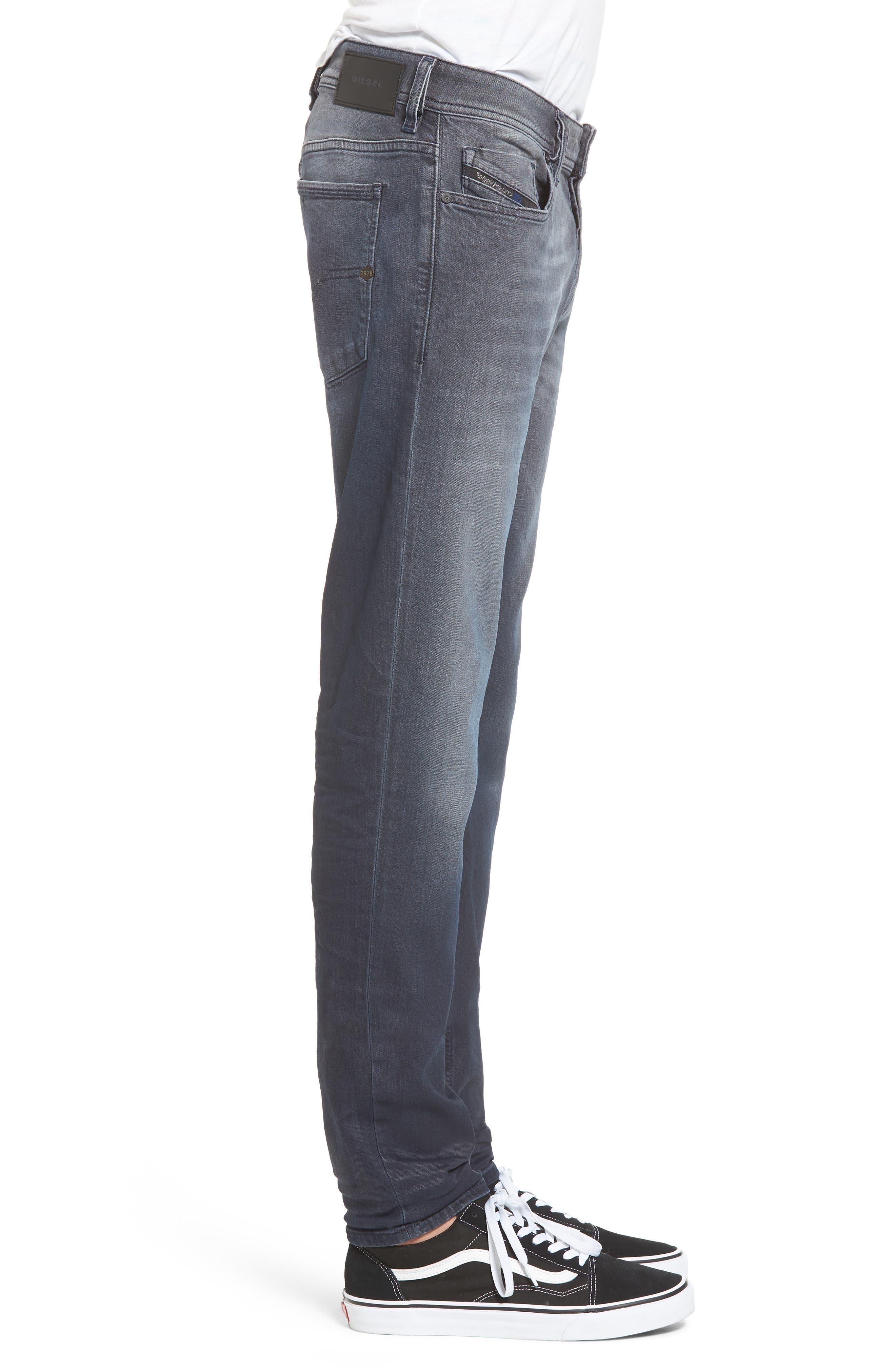 Sleenker Skinny Fit Jeans,                             Alternate thumbnail 3, color,                             400
