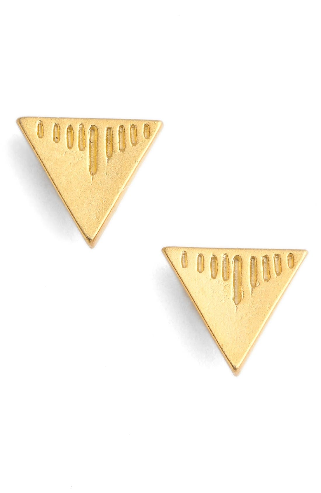 CAM Triangle Stud Earrings, Main, color, 710