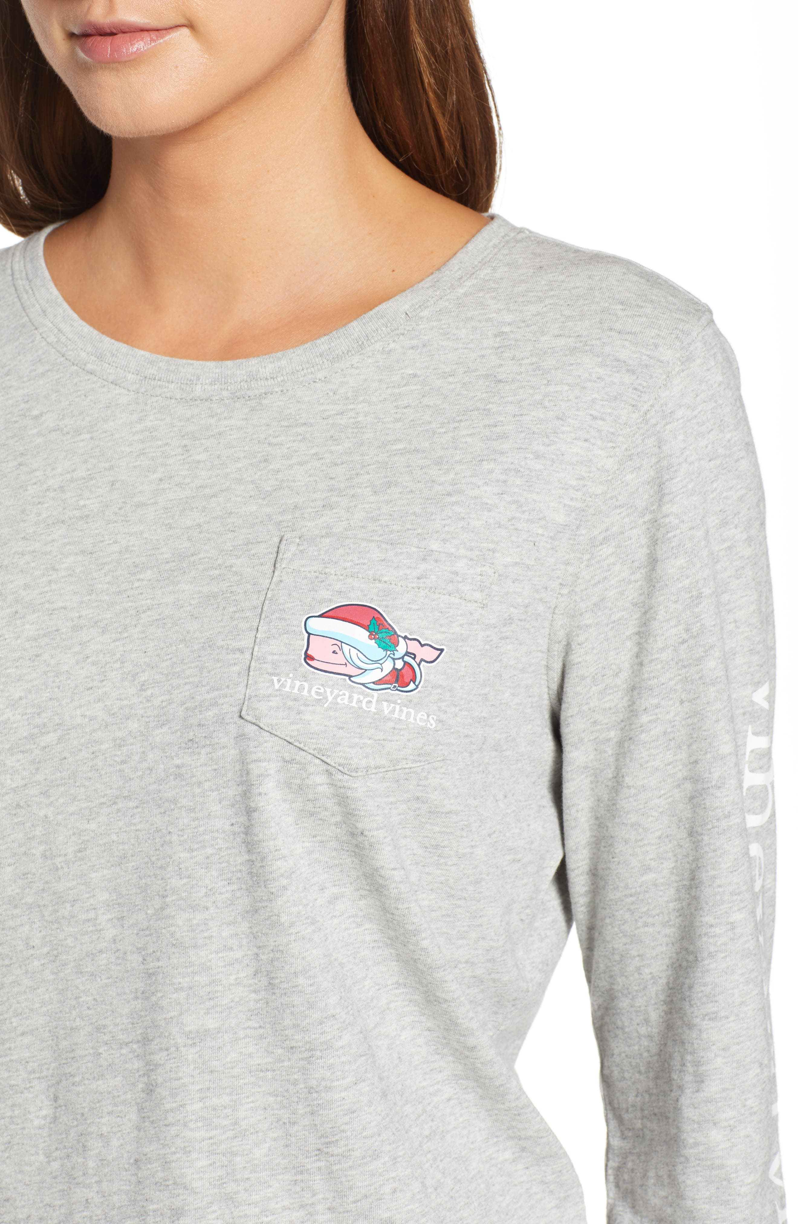 Mrs. Claus Pocket Tee,                             Alternate thumbnail 4, color,                             GRAY HEATHER