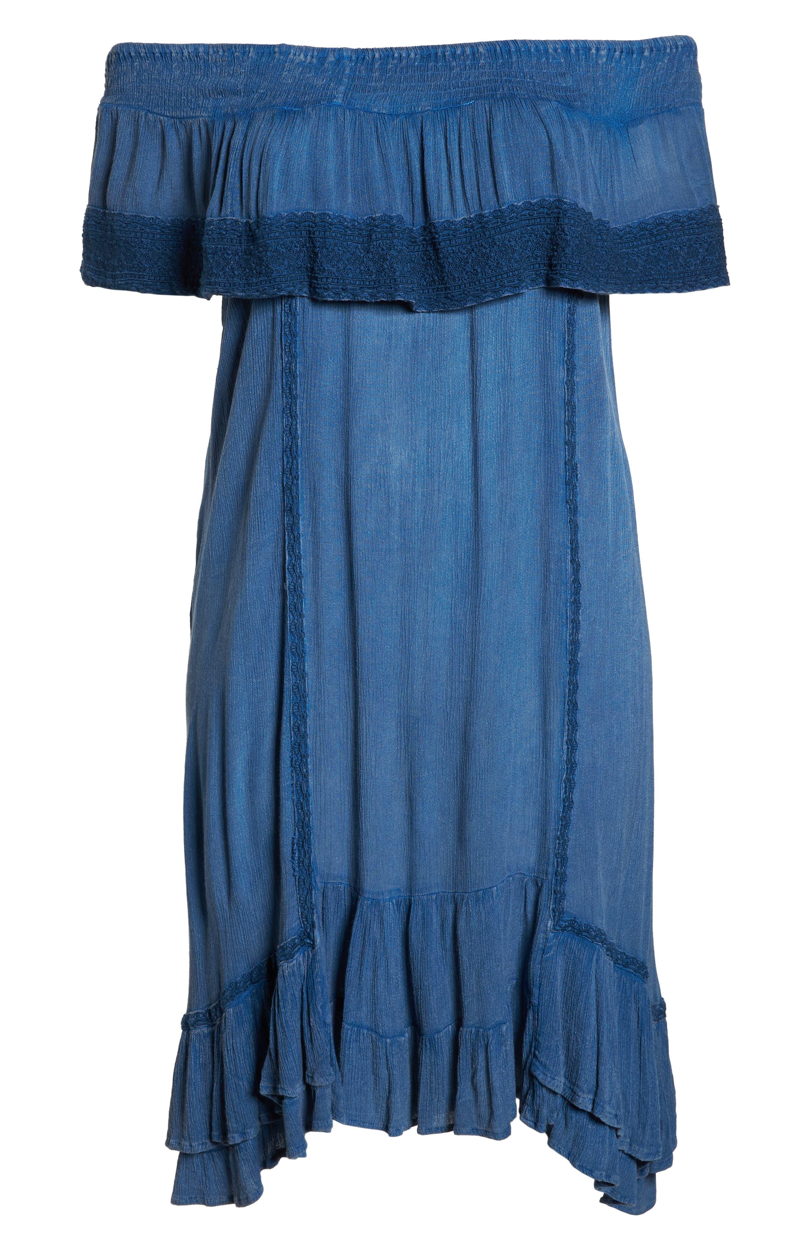 Gavin Ruffle Cover-Up Dress,                             Alternate thumbnail 6, color,                             462