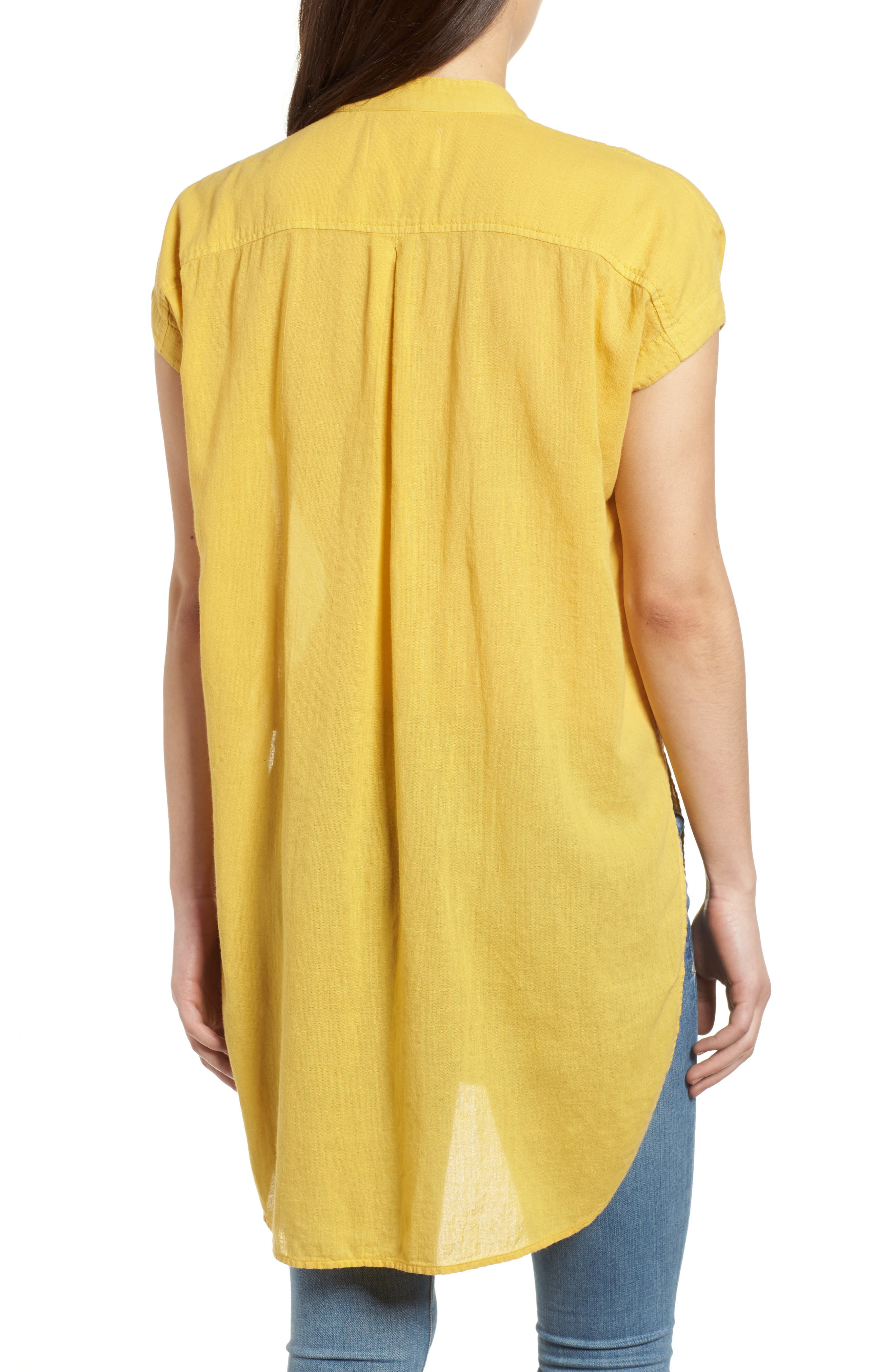 Button Front Longline Top,                             Alternate thumbnail 15, color,