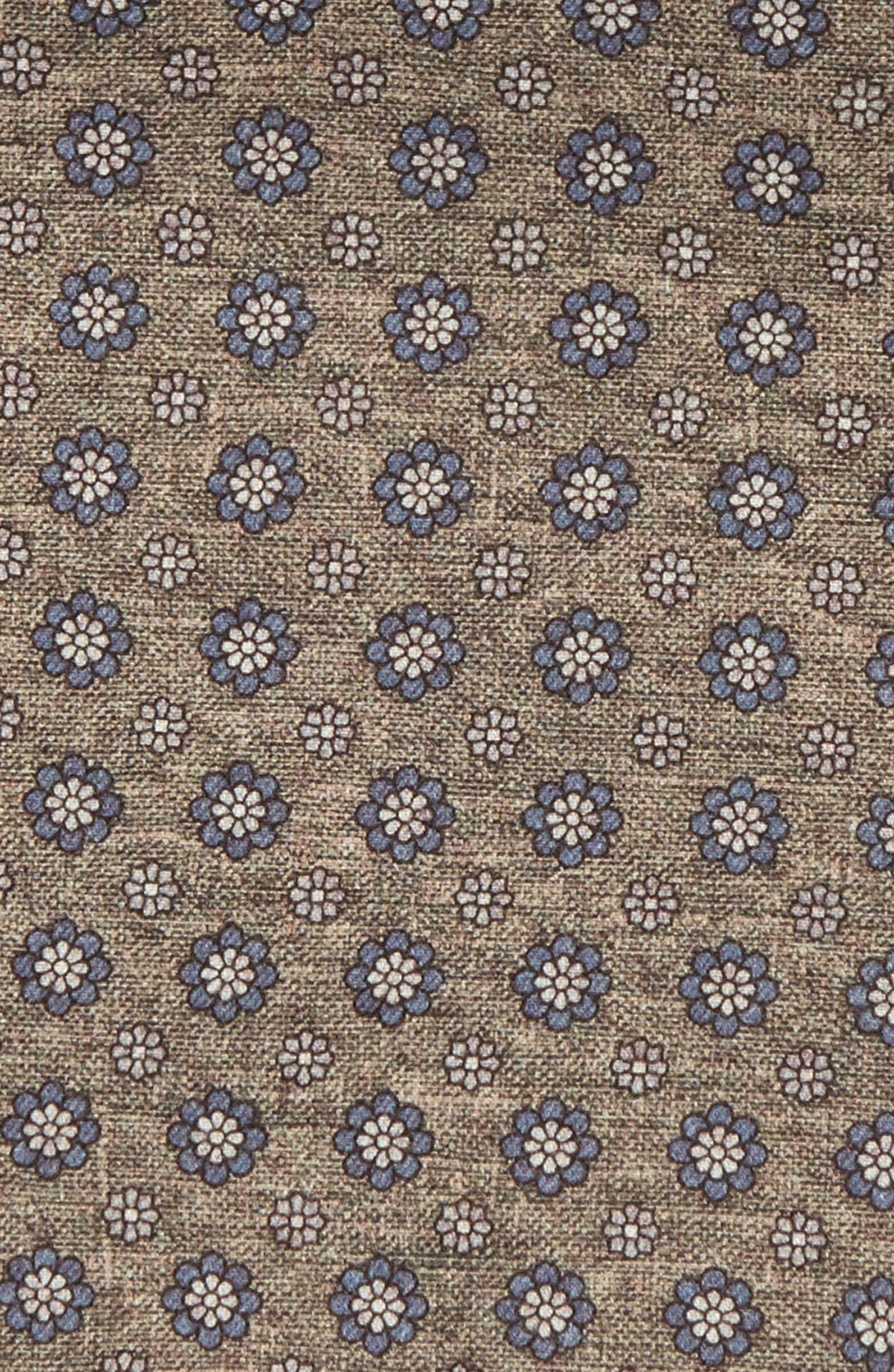 Medallion Wool & Cotton Pocket Square,                             Alternate thumbnail 3, color,                             328