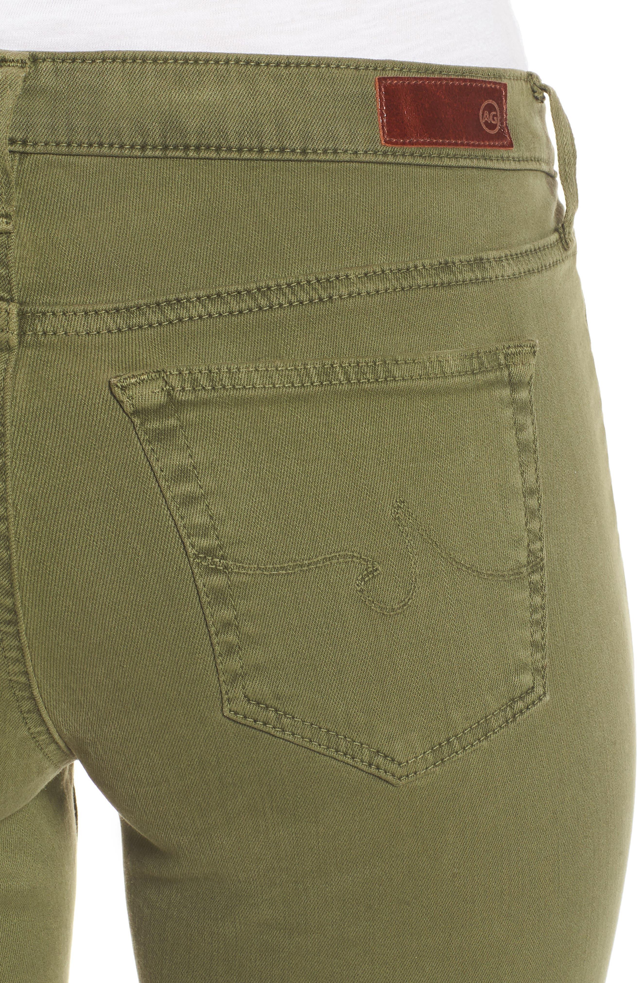 'The Legging' Ankle Jeans,                             Alternate thumbnail 4, color,                             SULFUR OLIVE GROVE