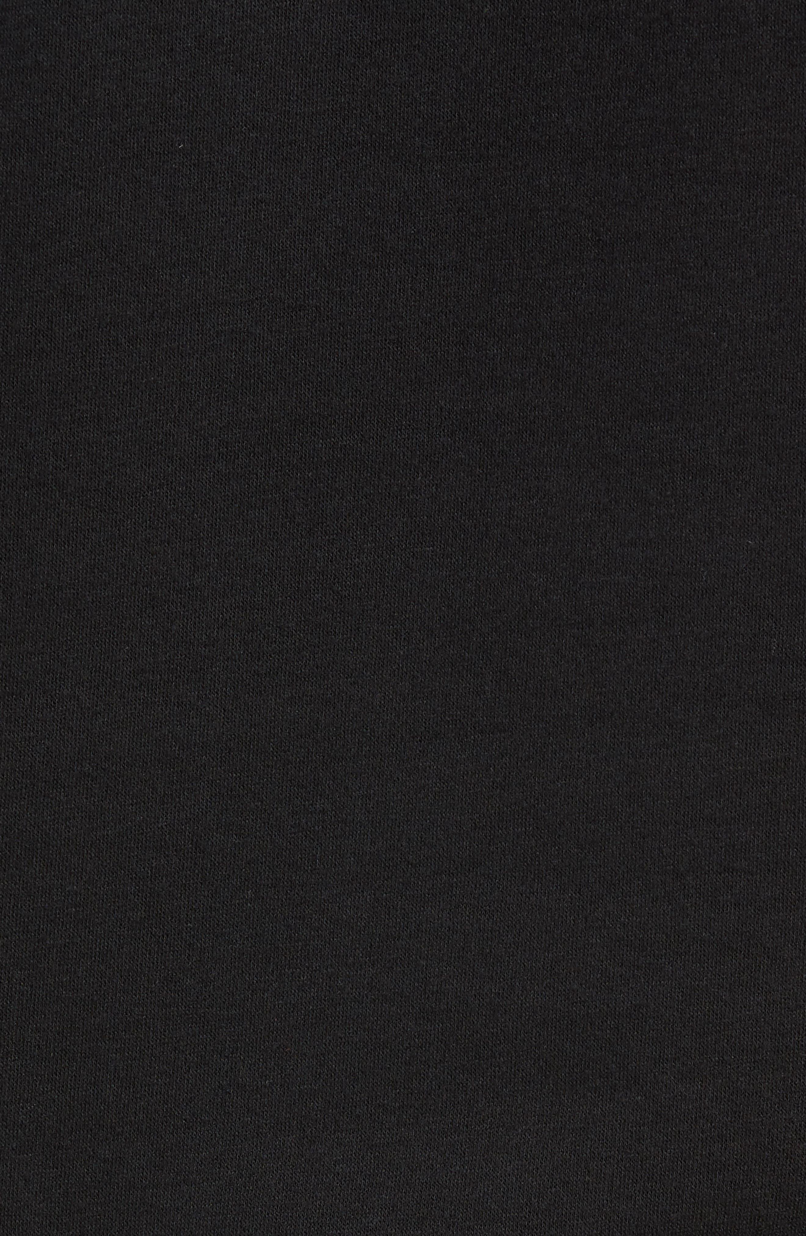 POLO RALPH LAUREN,                             Brushed Jersey Cotton Blend Crewneck Sweatshirt,                             Alternate thumbnail 5, color,                             POLO BLACK