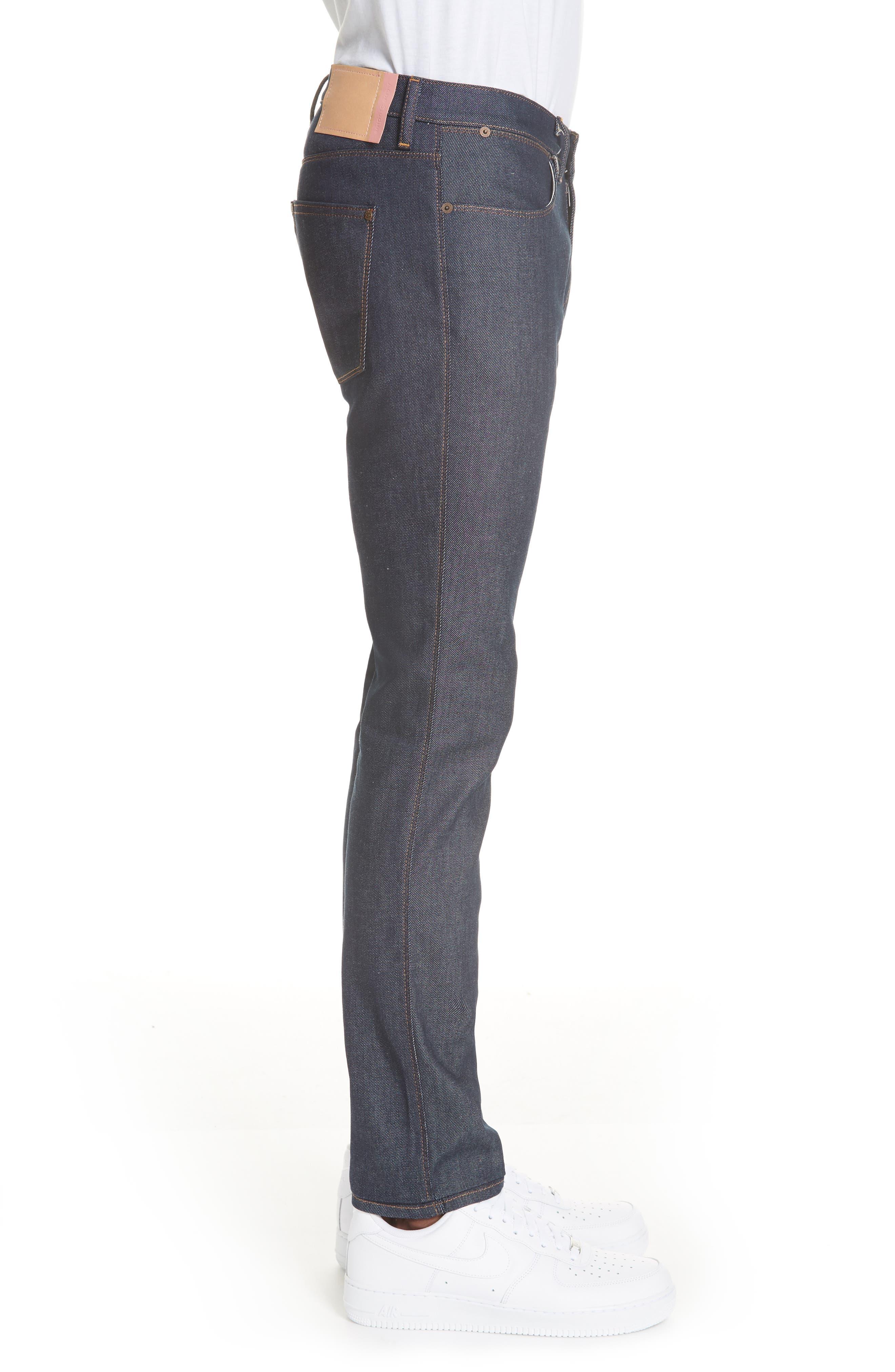 Max Slim Straight Leg Jeans,                             Alternate thumbnail 3, color,                             MAX INDIGO