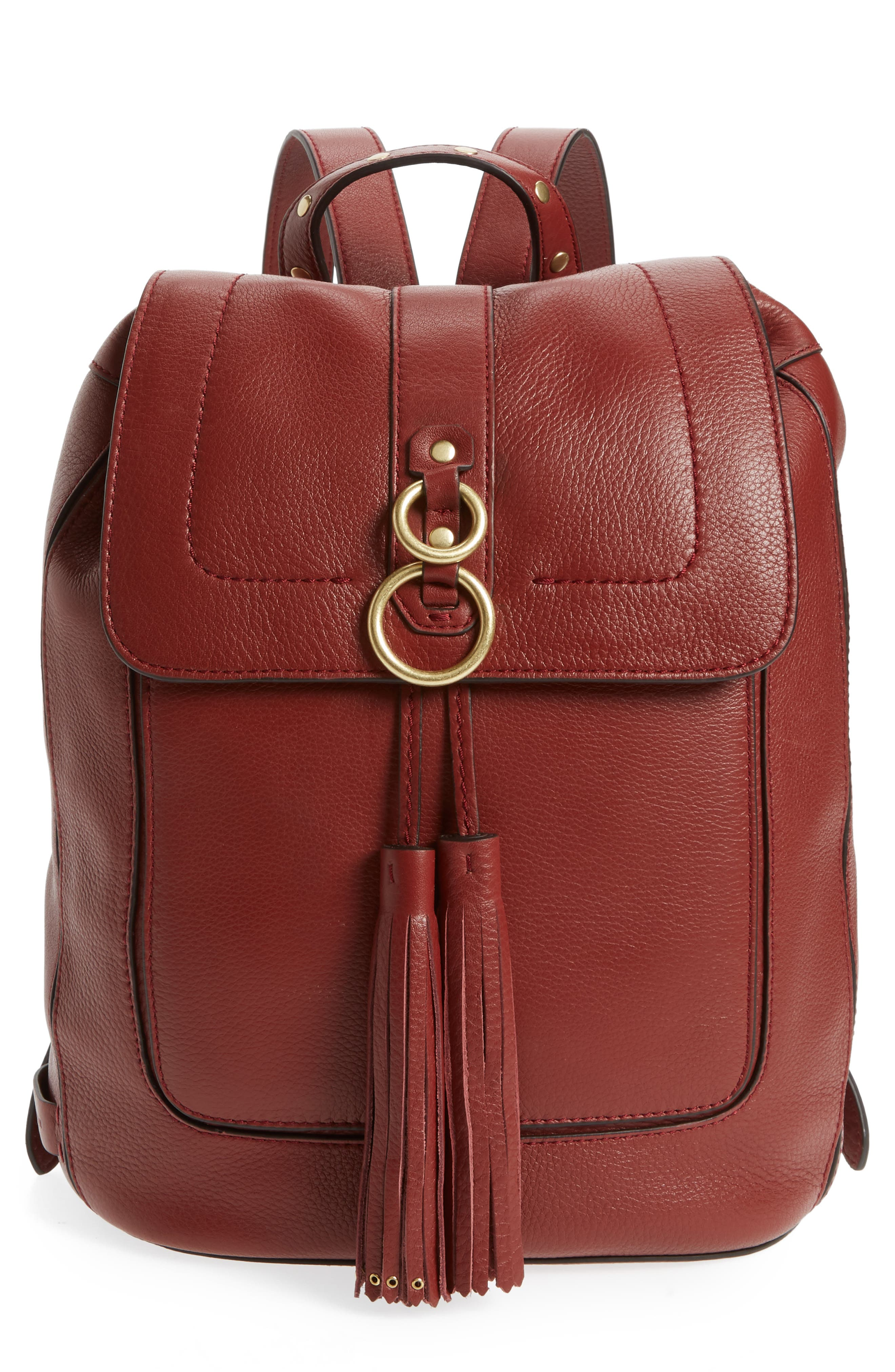 Cassidy RFID Pebbled Leather Backpack,                             Main thumbnail 2, color,