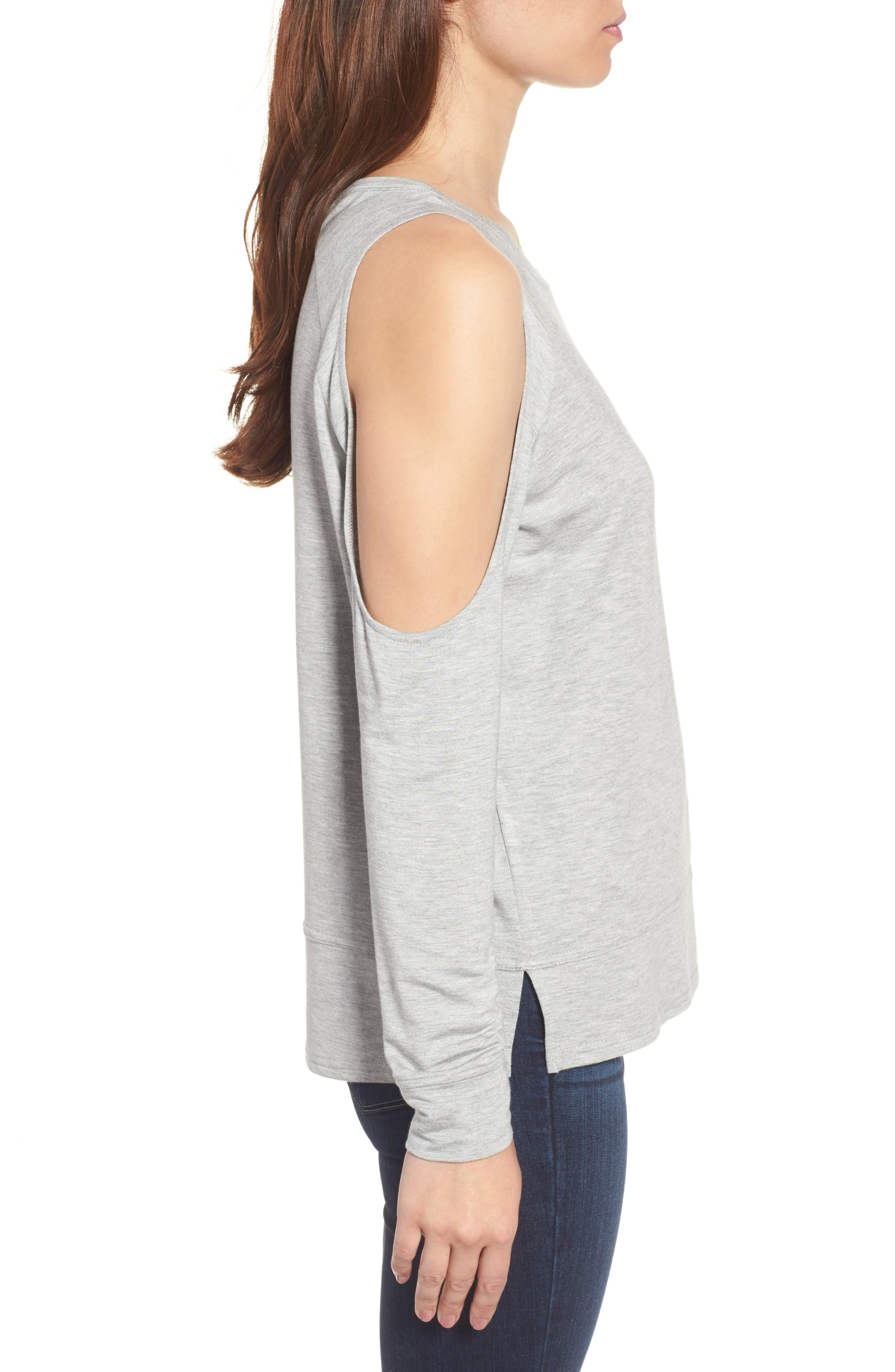 Mariam Cold Shoulder Tee,                             Alternate thumbnail 6, color,