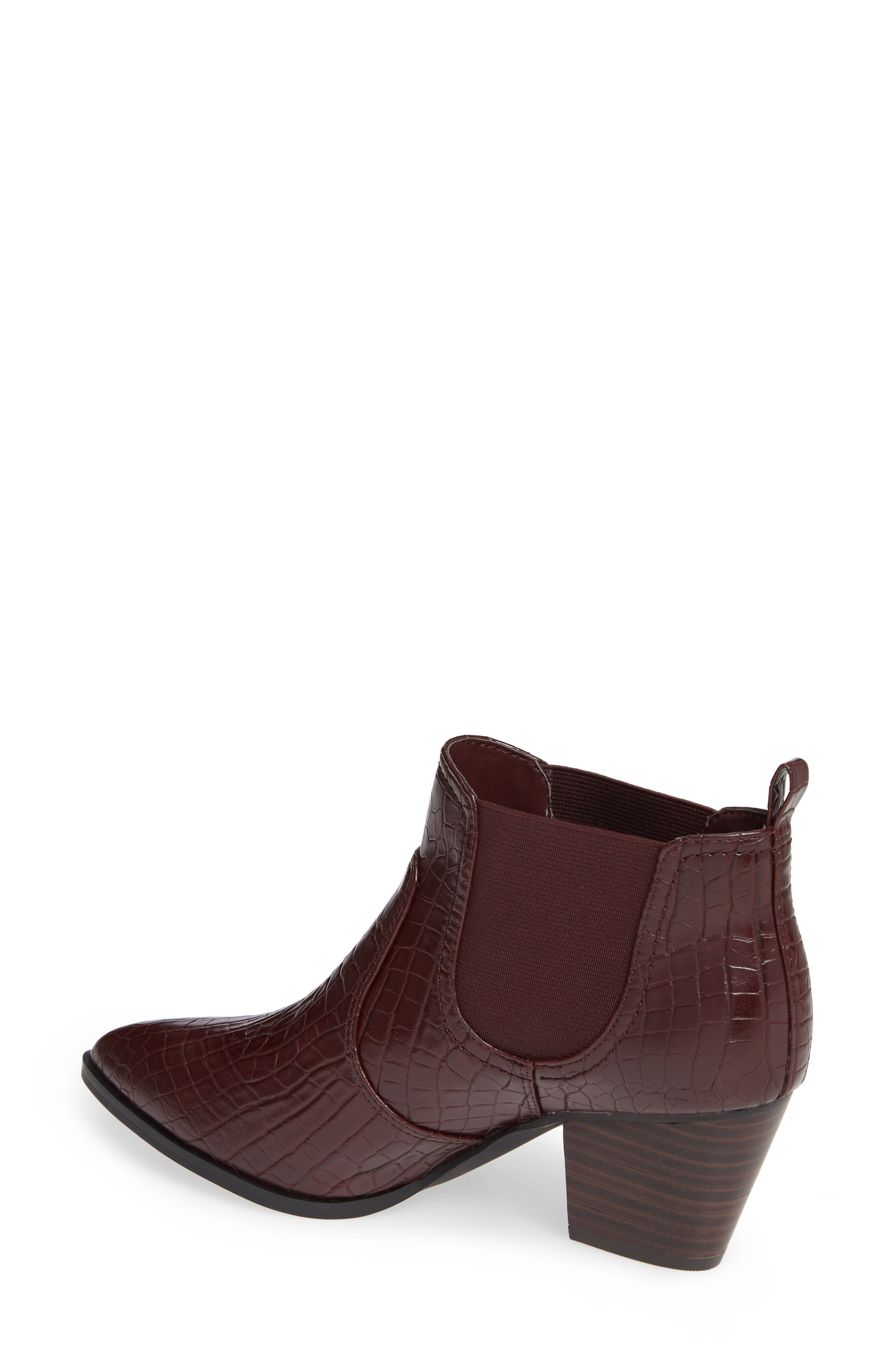 Emerson II Chelsea Bootie,                             Alternate thumbnail 2, color,                             BURGUNDY