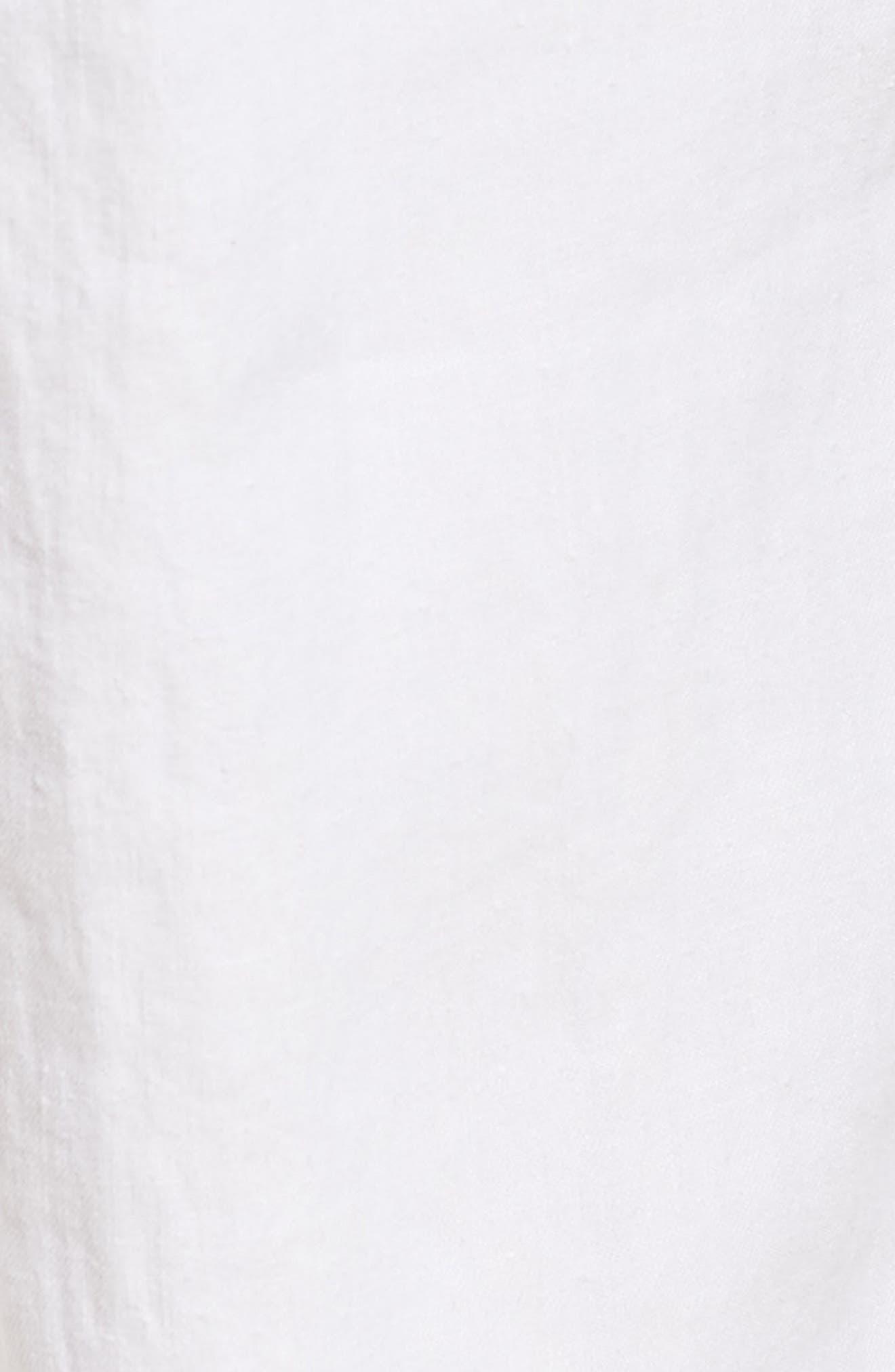 Slim Fit Linen Utility Pants,                             Alternate thumbnail 5, color,                             100